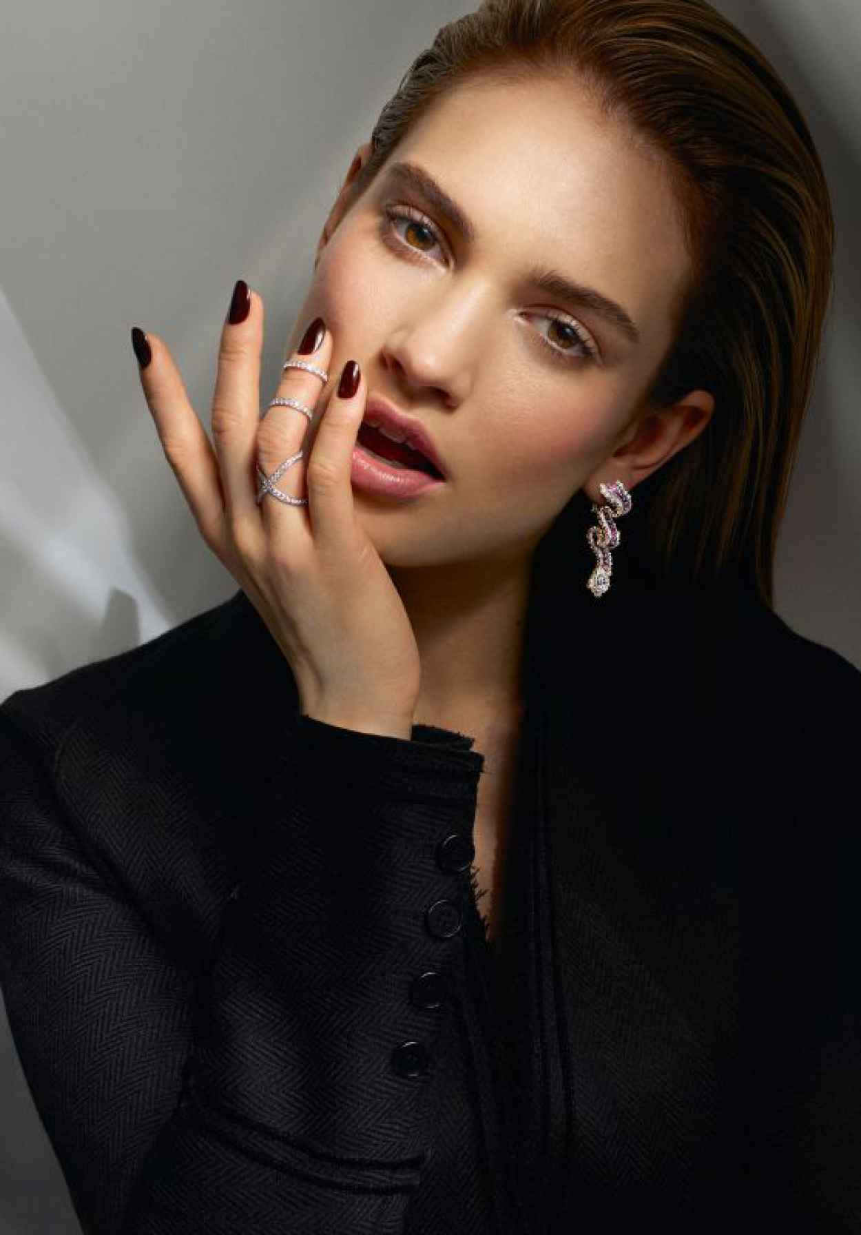 Lily James - Vanity Fair On Jewelry Photoshoot - August 2015-1