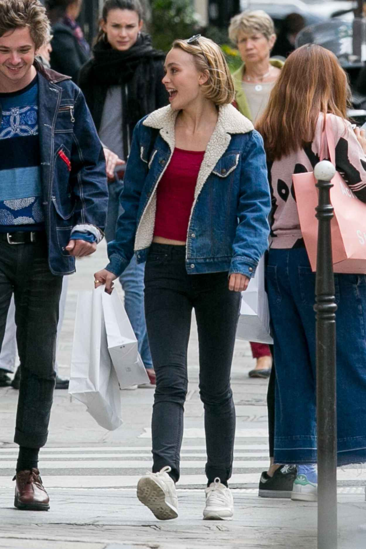 Lily-Rose Depp - Out in Paris, September 2015-3