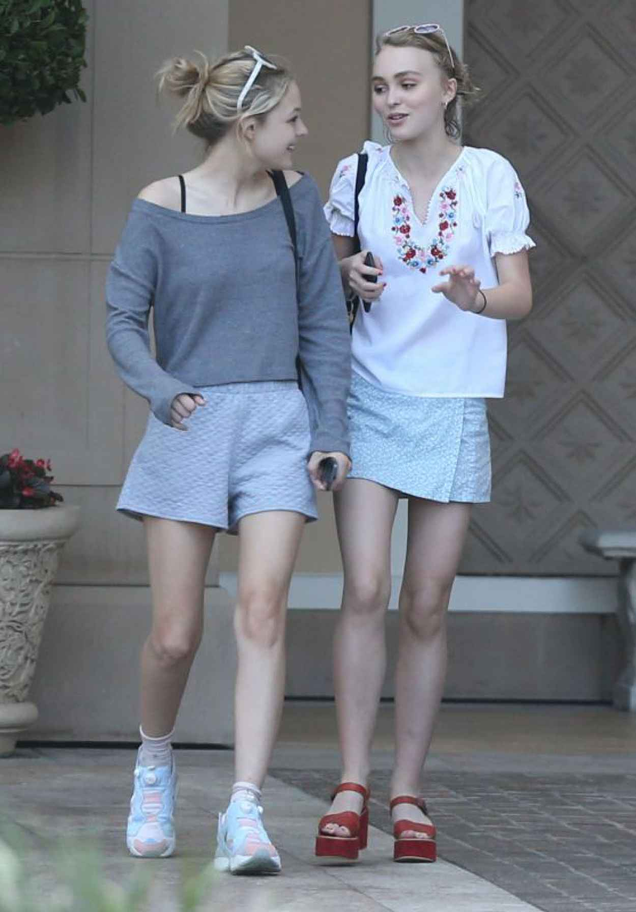 Lily-Rose Depp Summer Style - Out and About in Beverly Hills, July 2015-1