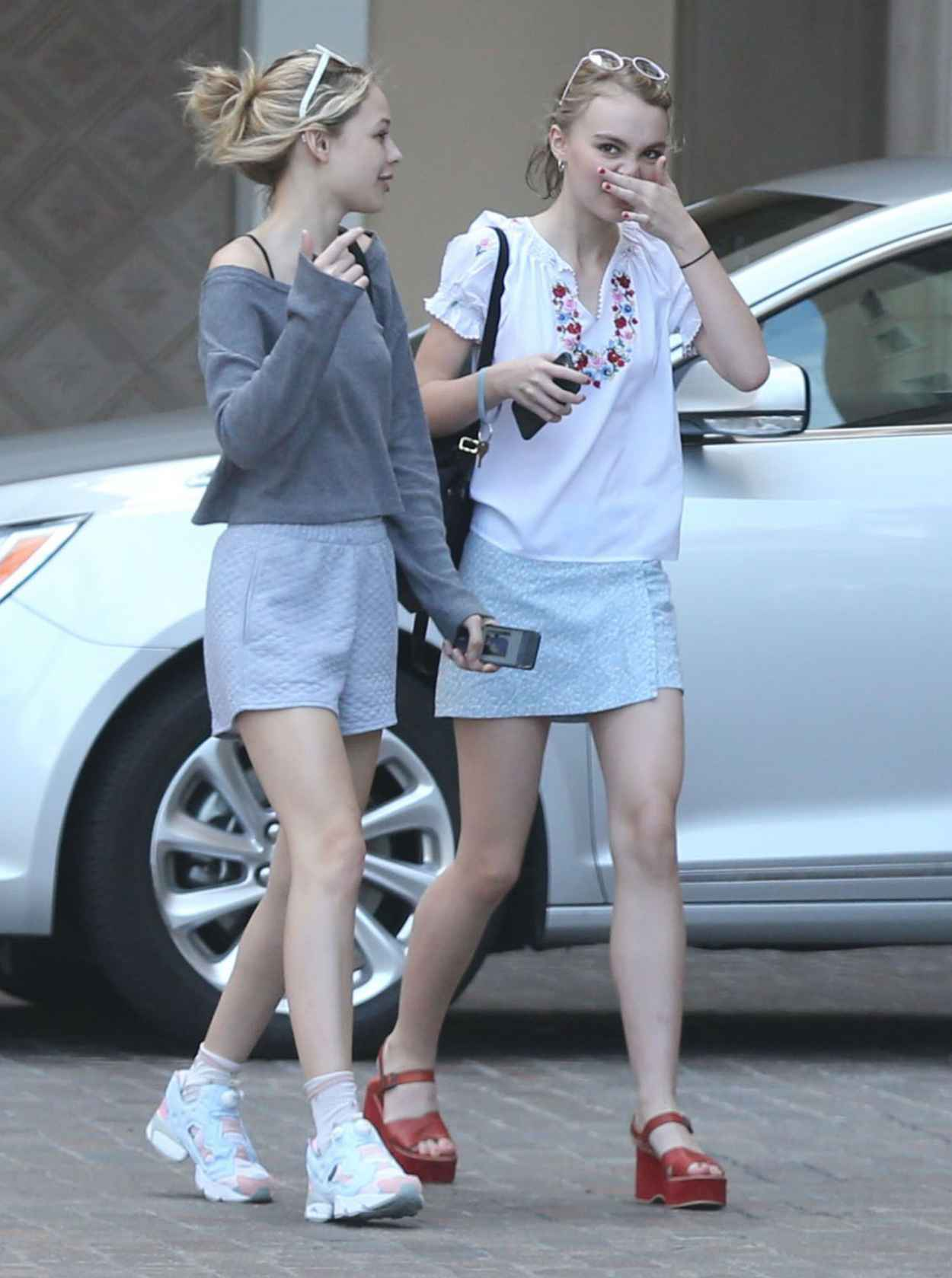 Lily-Rose Depp Summer Style - Out and About in Beverly Hills, July 2015-5