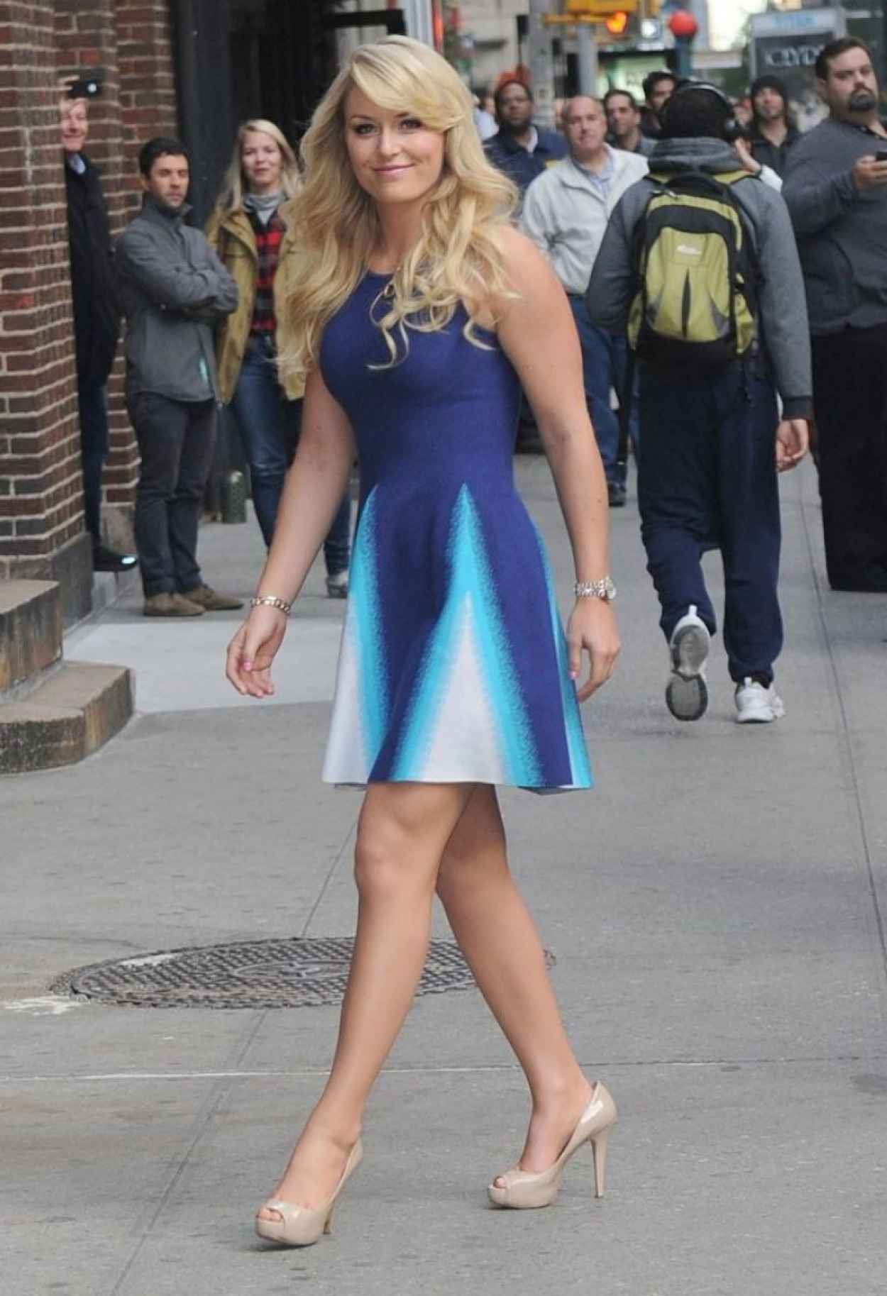 Lindsey Vonn Arriving at the Late Show with David Letterman-1
