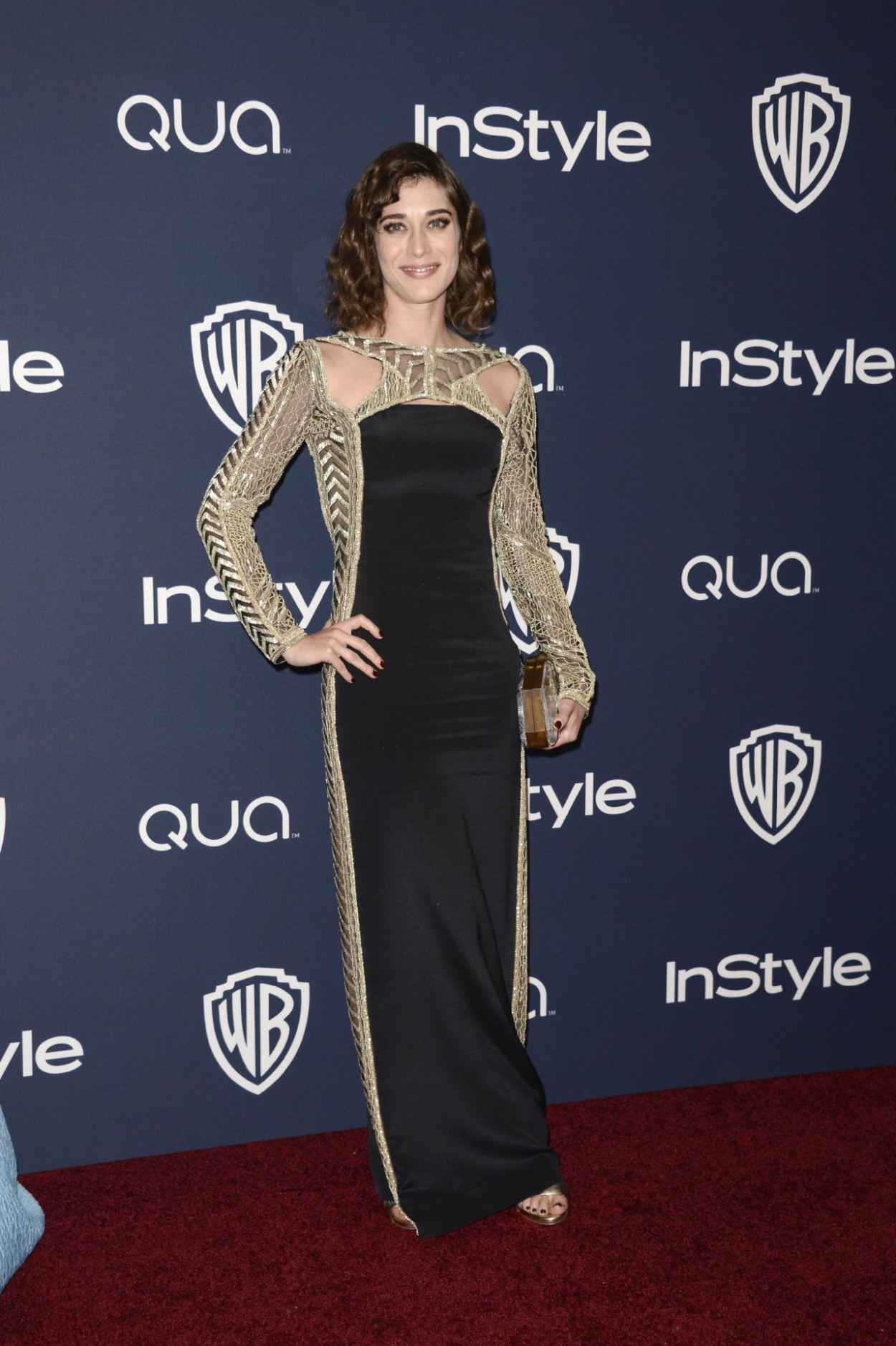 Lizzy Caplan - InStyle & Warner Bros. 2015 Golden Globes Party-1