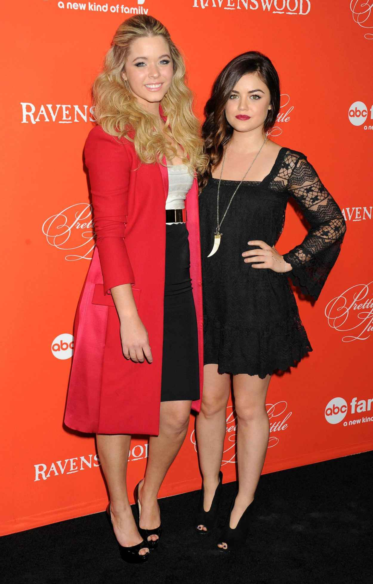 Lucy Hale and Sasha Pieterse - Pretty Little Liars Halloween Episode Red Carpet-1