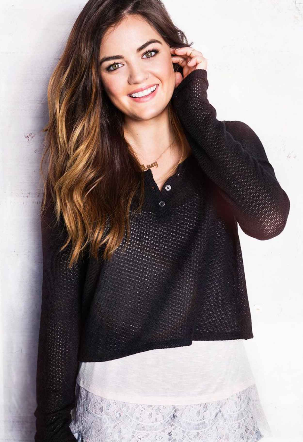 Lucy Hale - Hollister Clothing Photoshoot (2014)-1