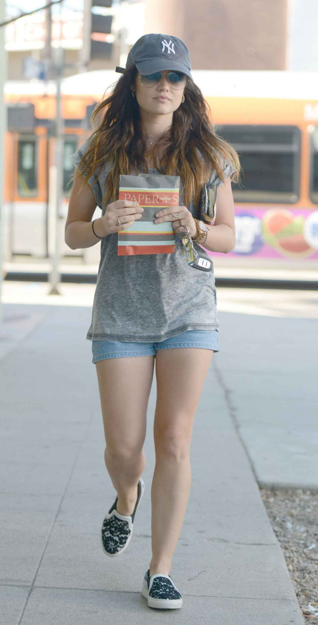 Lucy Hale in Shorts - Out in Los Angeles, August 2015-1