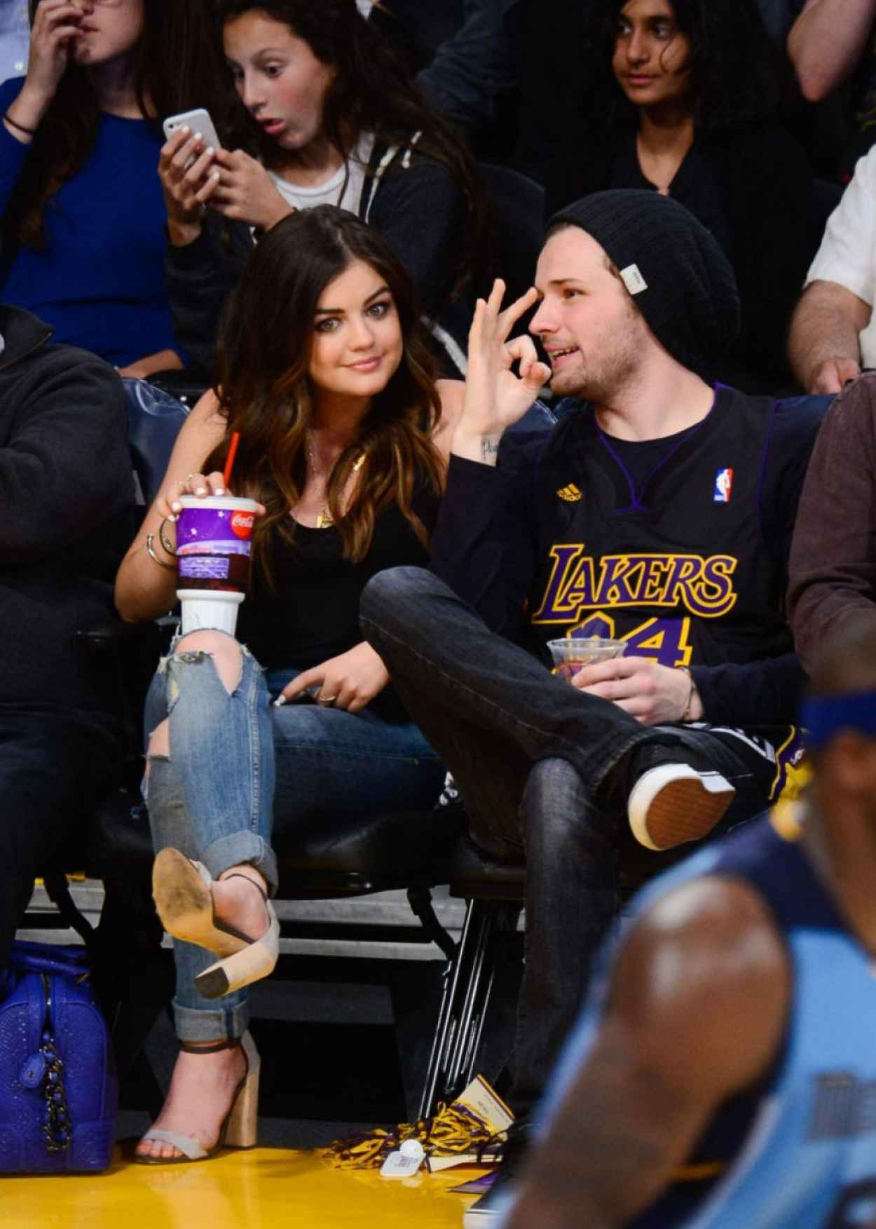 Lucy Hale - Lakers Game at Staples Center in Los Angeles - April 2015-1