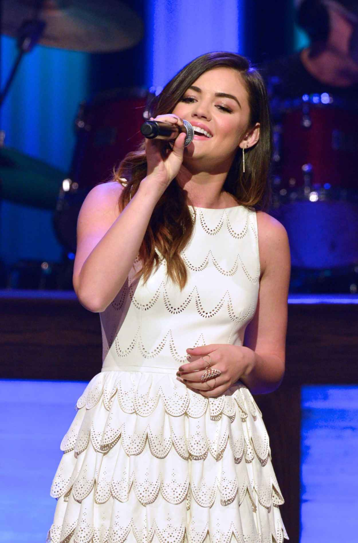 Lucy Hale Performs at The Grand Ole Opry in Nashville - June 2015-1