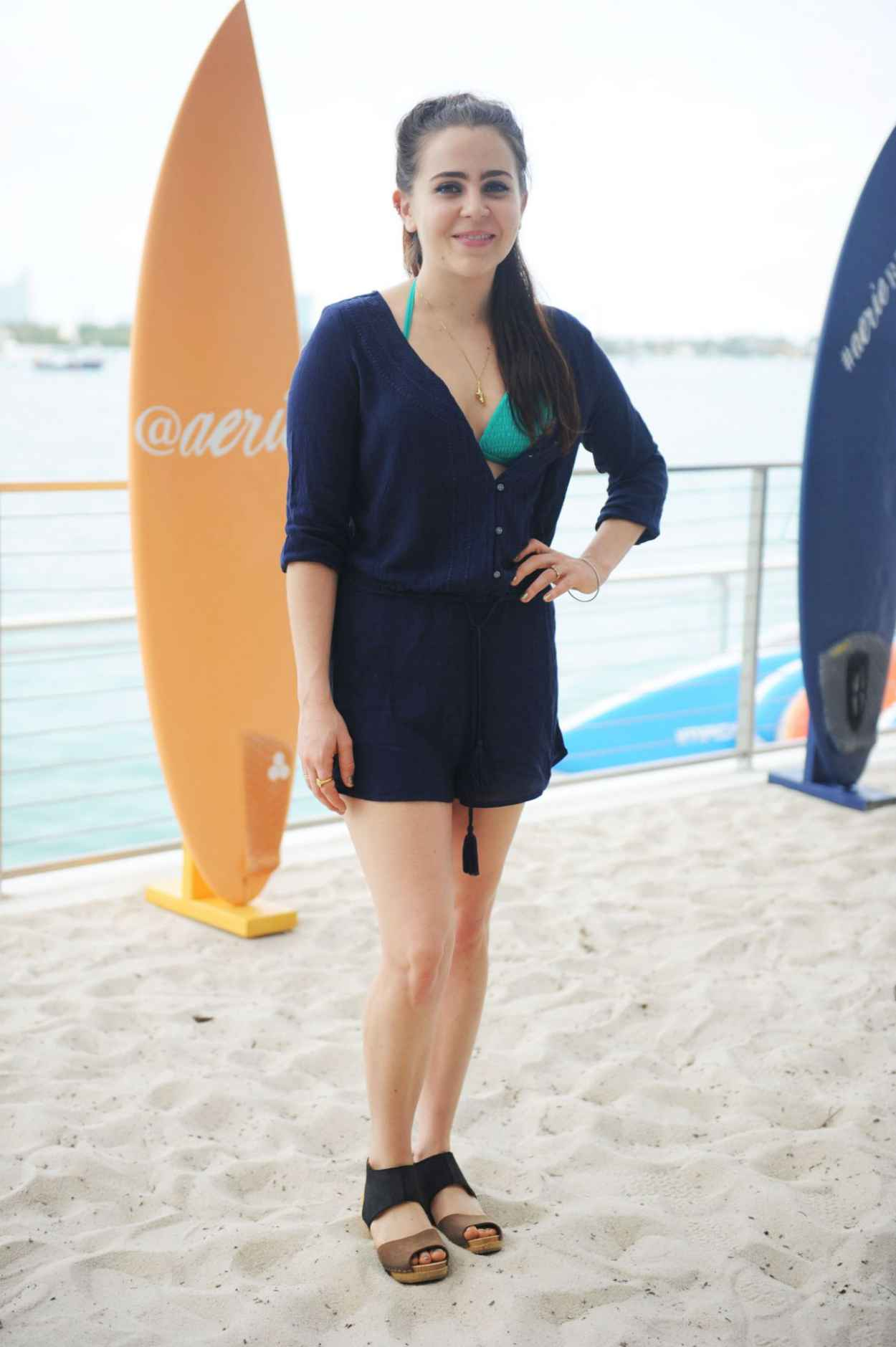 Mae Whitman - Aerie Celebrates Swim With #AerieREAL Selfie in Miami Beach, March 2015-2