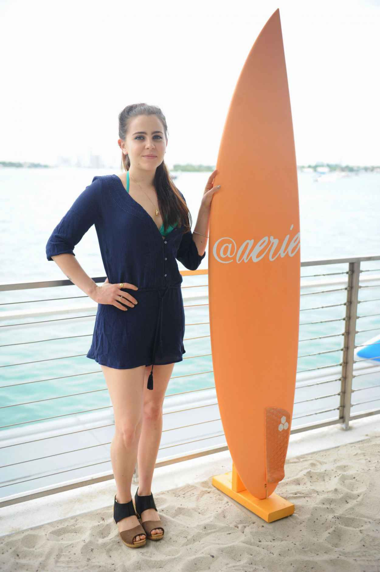Mae Whitman - Aerie Celebrates Swim With #AerieREAL Selfie in Miami Beach, March 2015-3