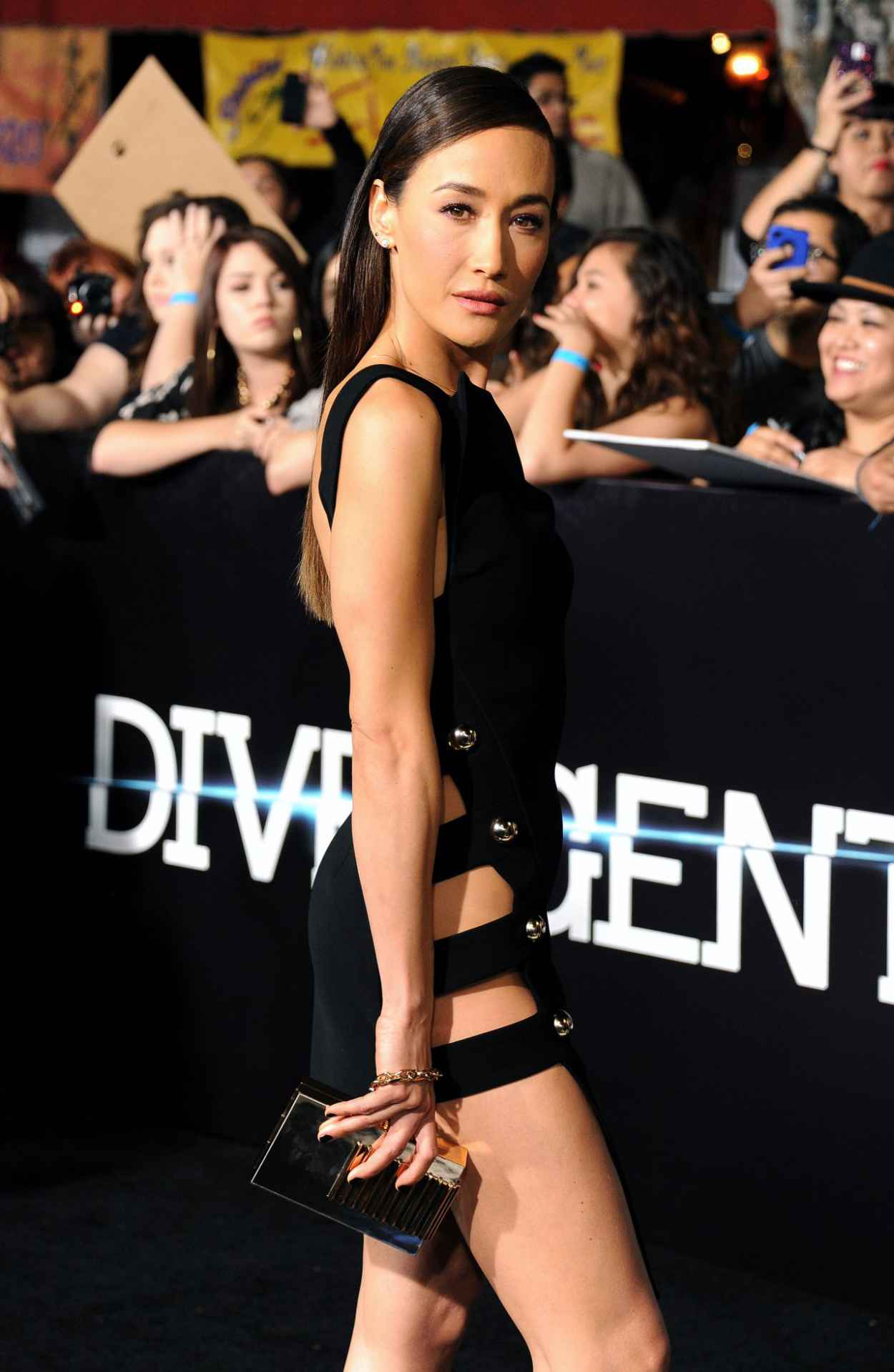 Maggie Q - Divergent Premiere in Los Angeles-1