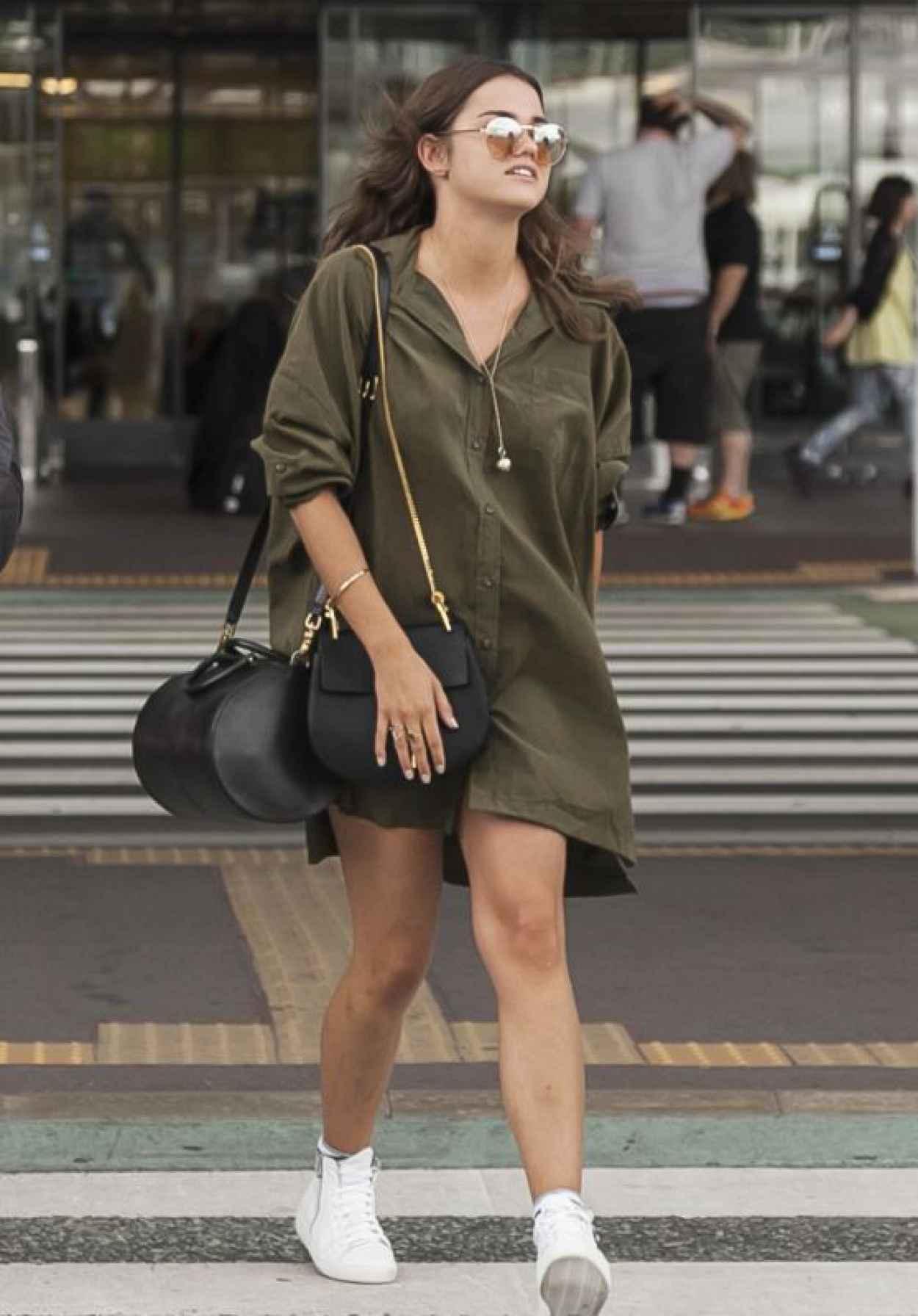 Maia Mitchell Airport Style - Narita International Airport, Japan, July 2015-1