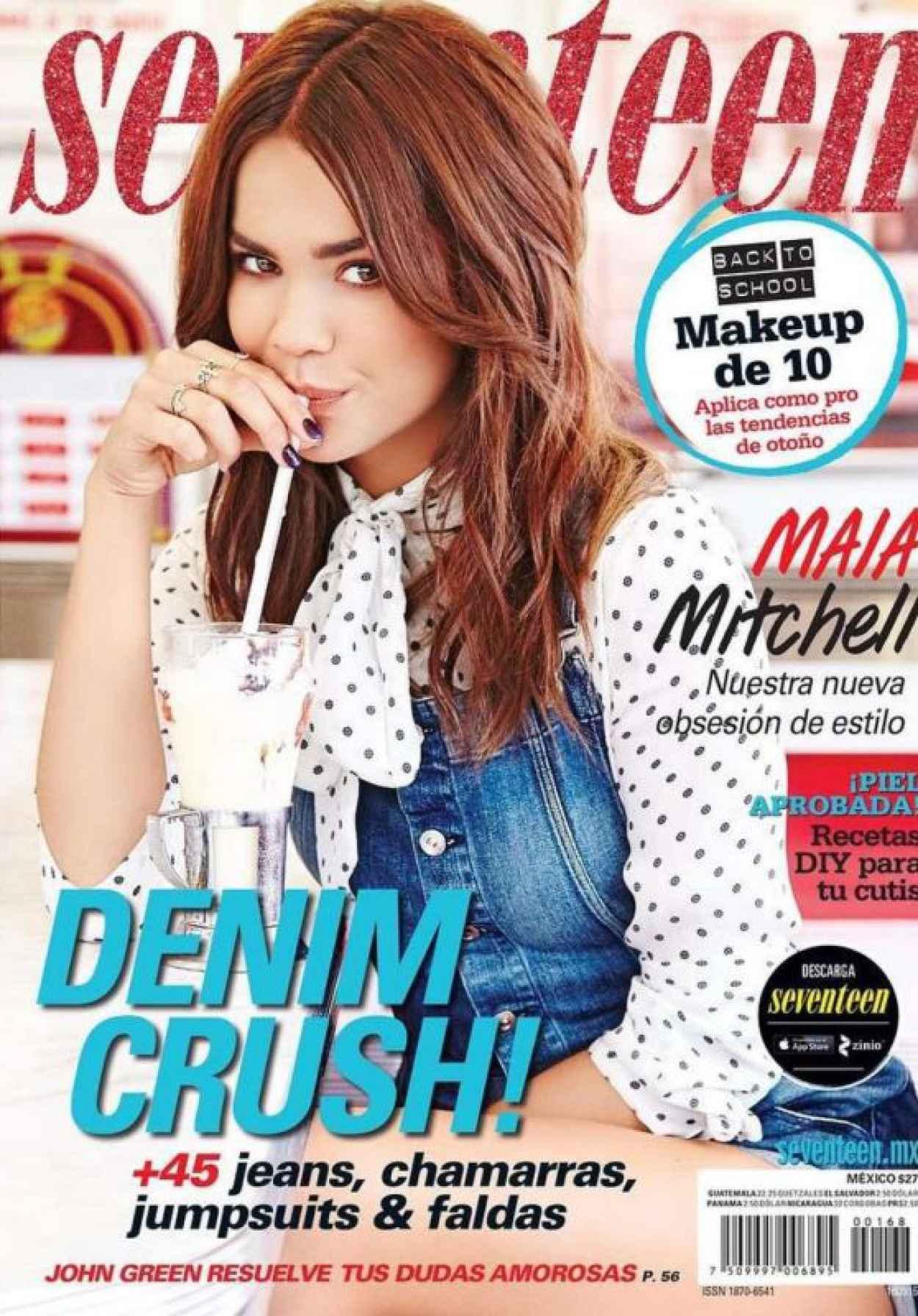 Maia Mitchell - Seventeen Magazine Mexico September 2015 Cover-1