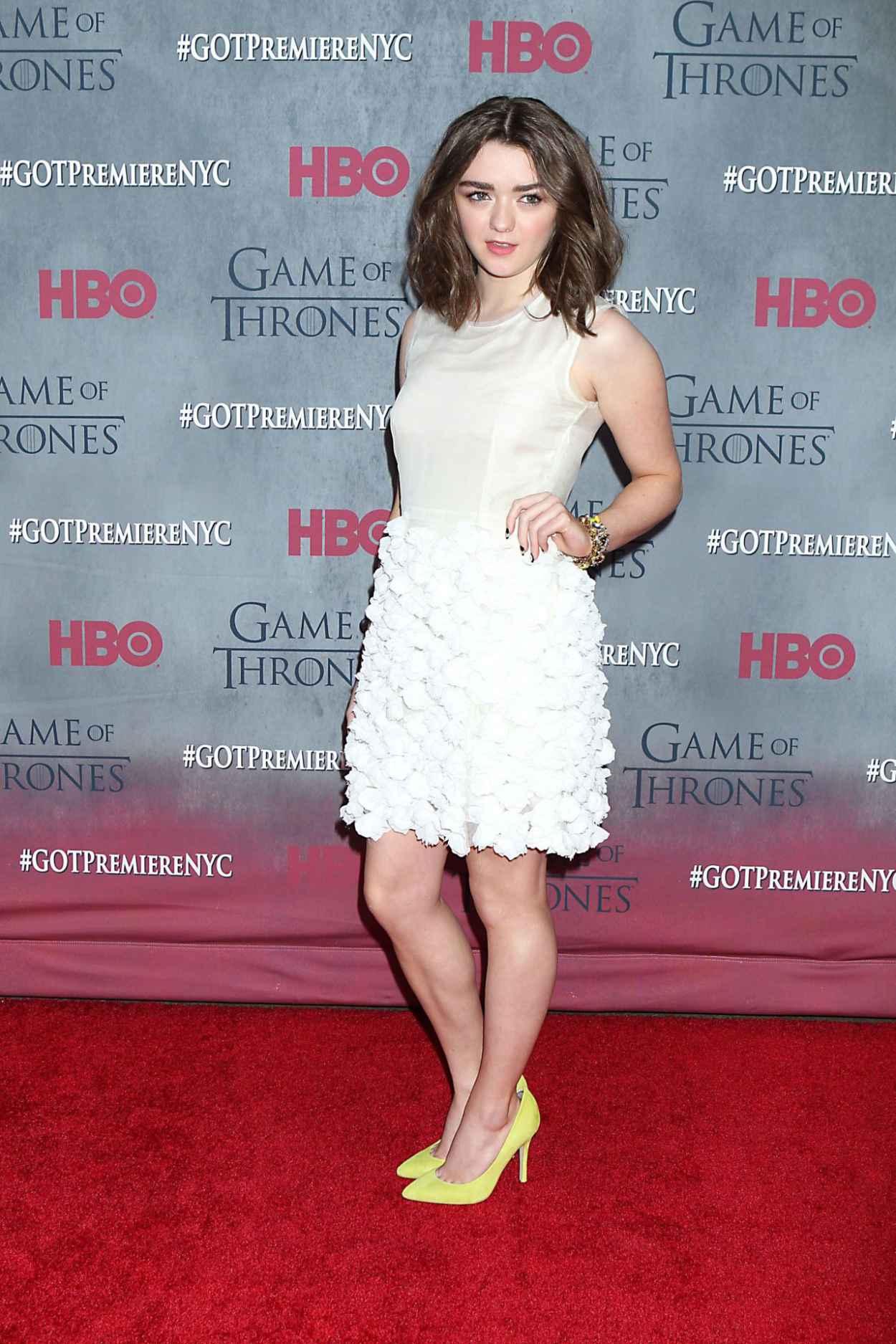 Maisie Williams - -Game of Thrones- Season 4 Premiere in New York City-1