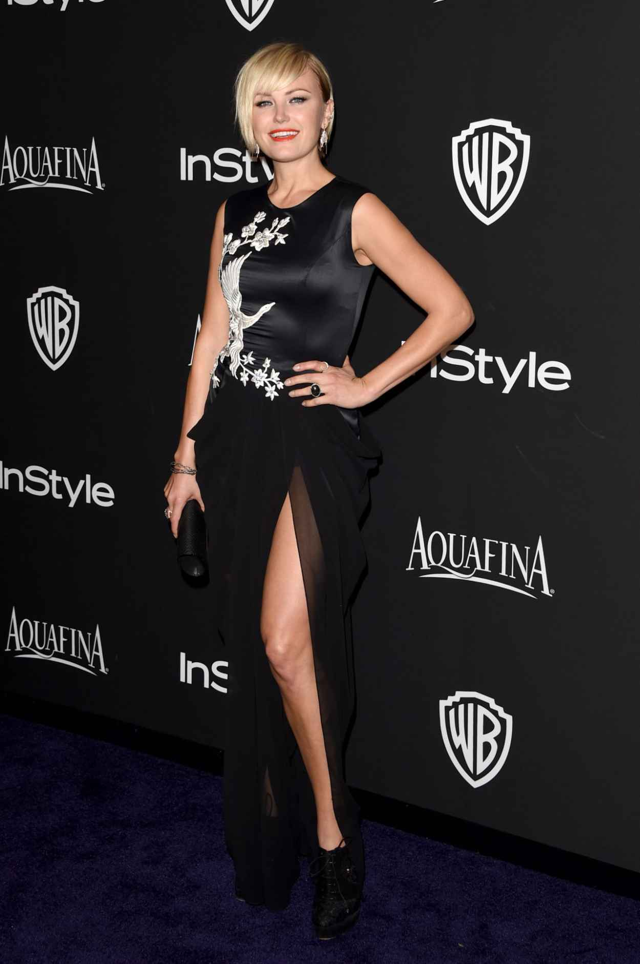 Malin Akerman - InStyle And Warner Bros 2015 Golden Globes Party-1