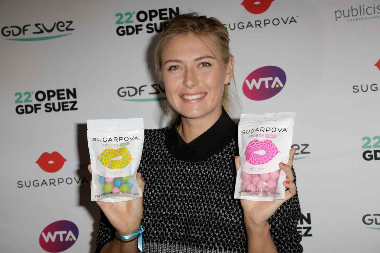 Maria Sharapova at Sugarpova Candy Collection Promotion - Paris, January 2015-1