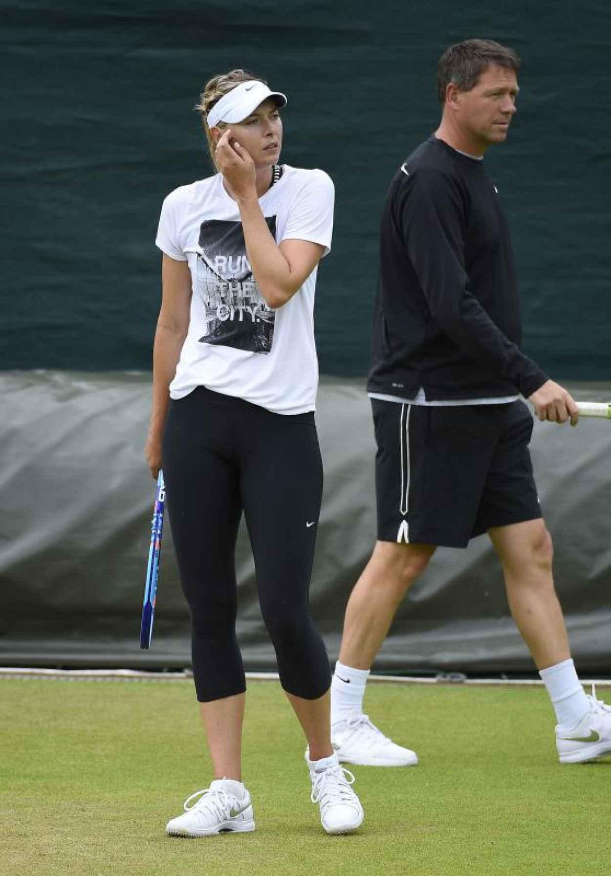 Maria Sharapova - Practice at Wimbledon Tennis Championships 2015 in London-1