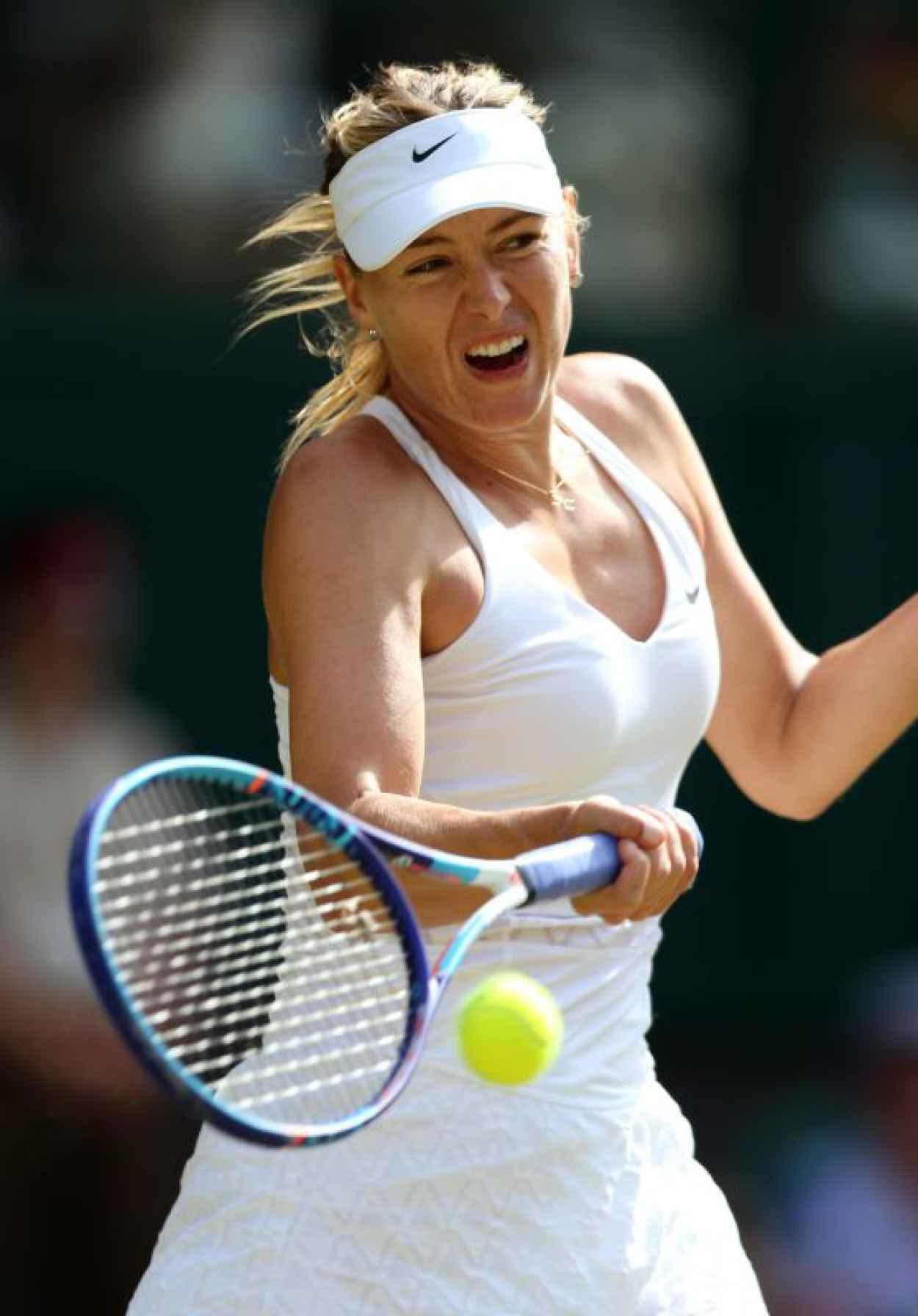 Maria Sharapova - Wimbledon Tournament 2015 - Quarter Final-1