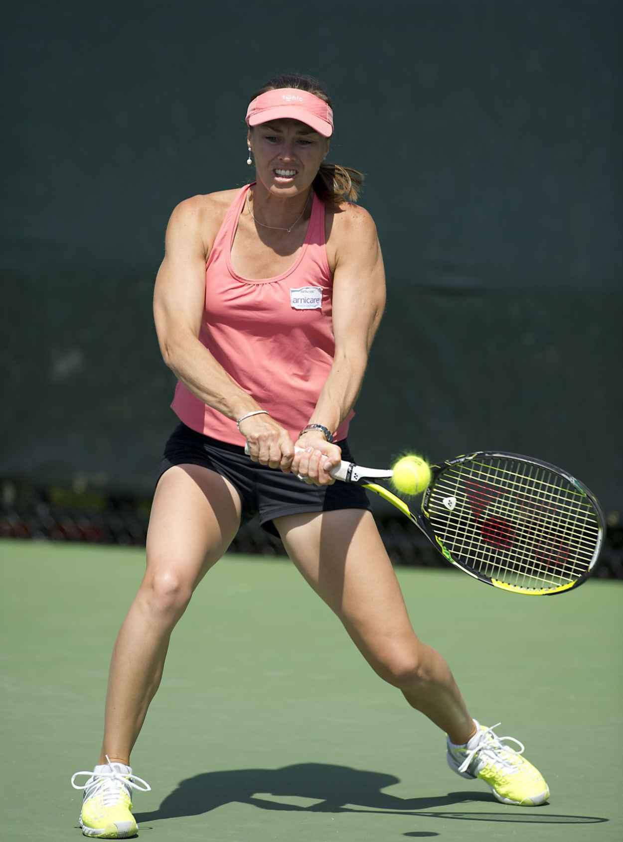 Martina Hingis & Sabine Lisicki - Practice Session Ahead of Sony Ericsson Open - Miami, March 2015-2