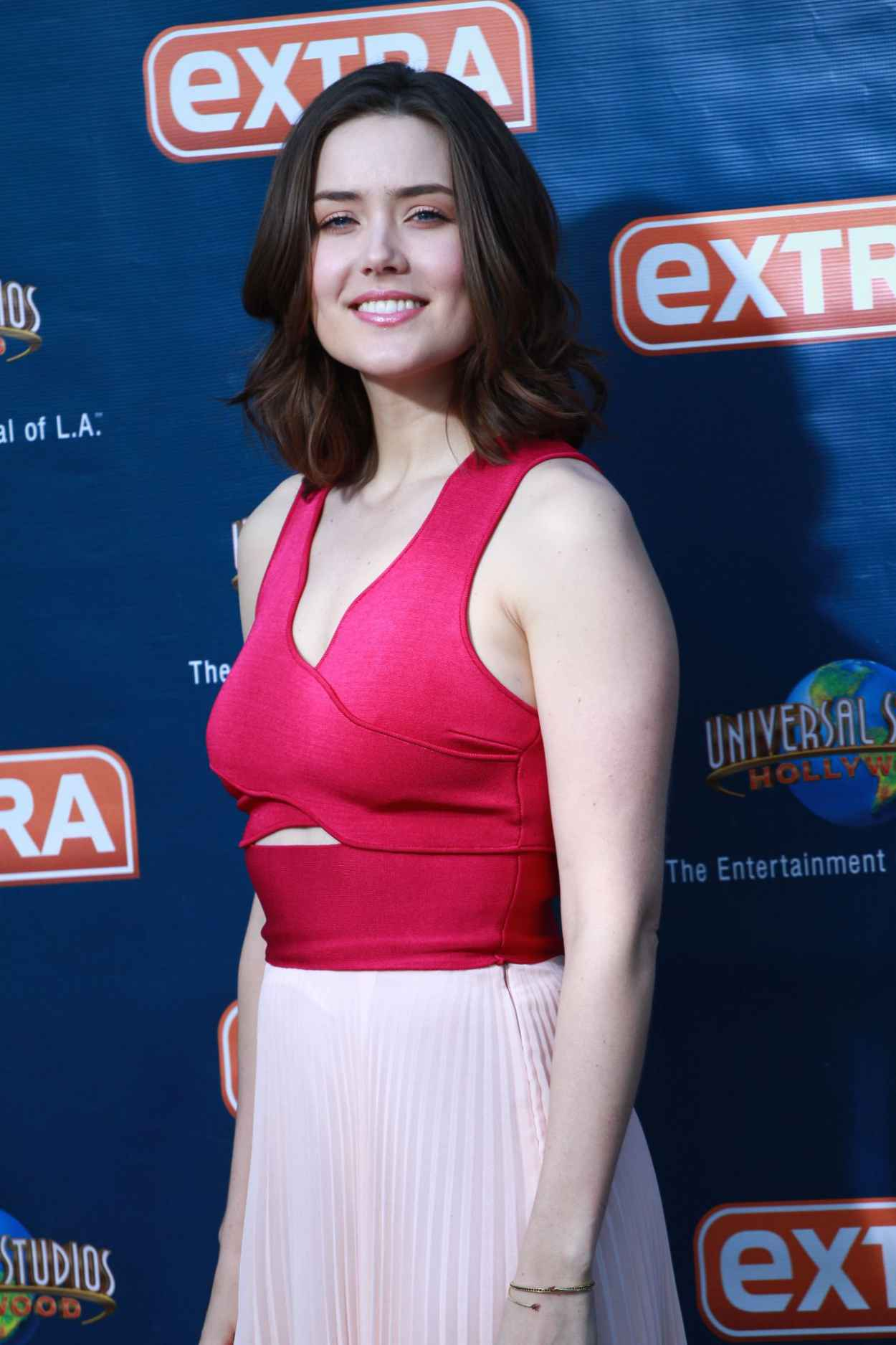 Megan Boone - On the Set of Extra in Universal City, March 2015-1