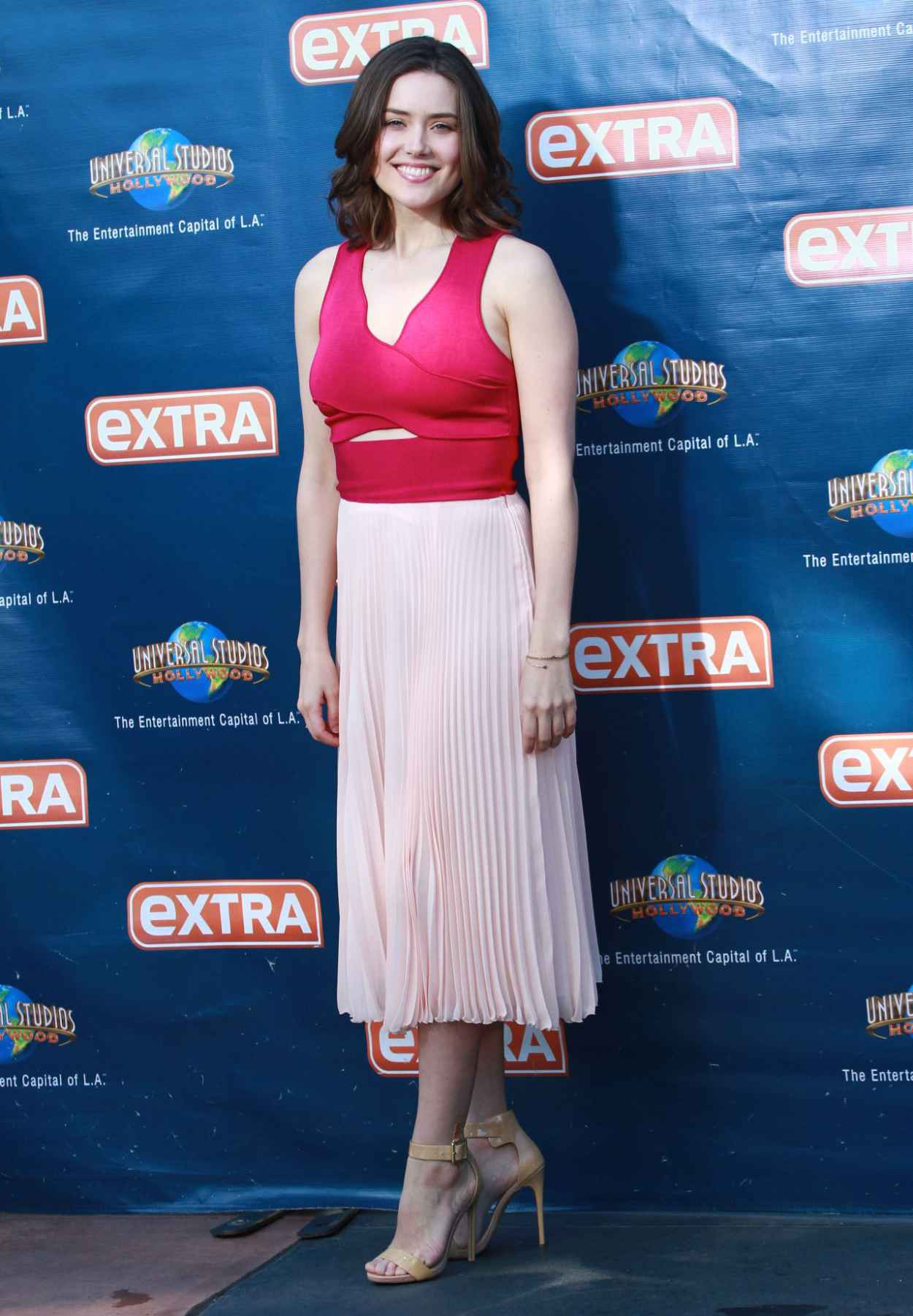 Megan Boone - On the Set of Extra in Universal City, March 2015-3
