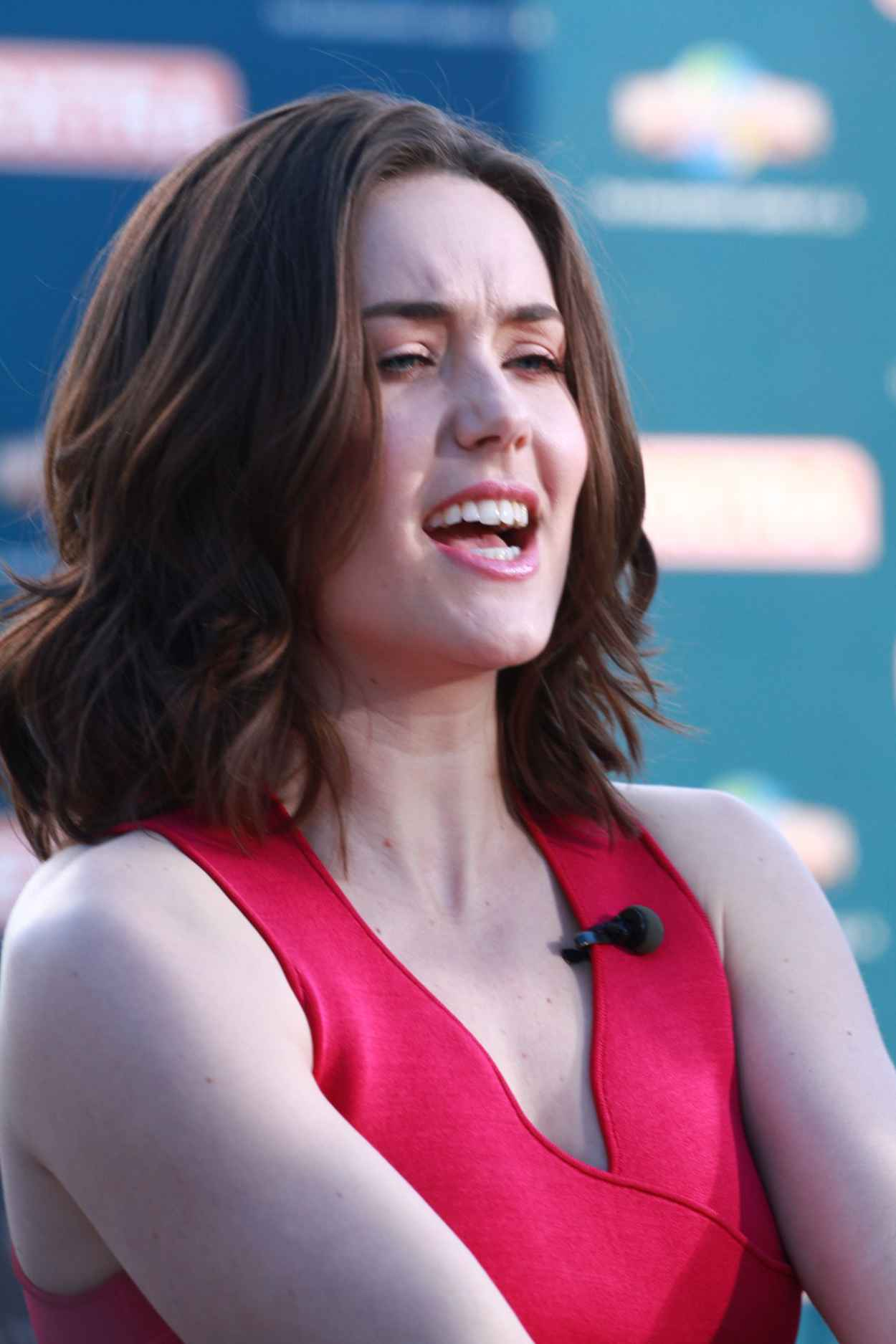 Megan Boone - On the Set of Extra in Universal City, March 2015-4