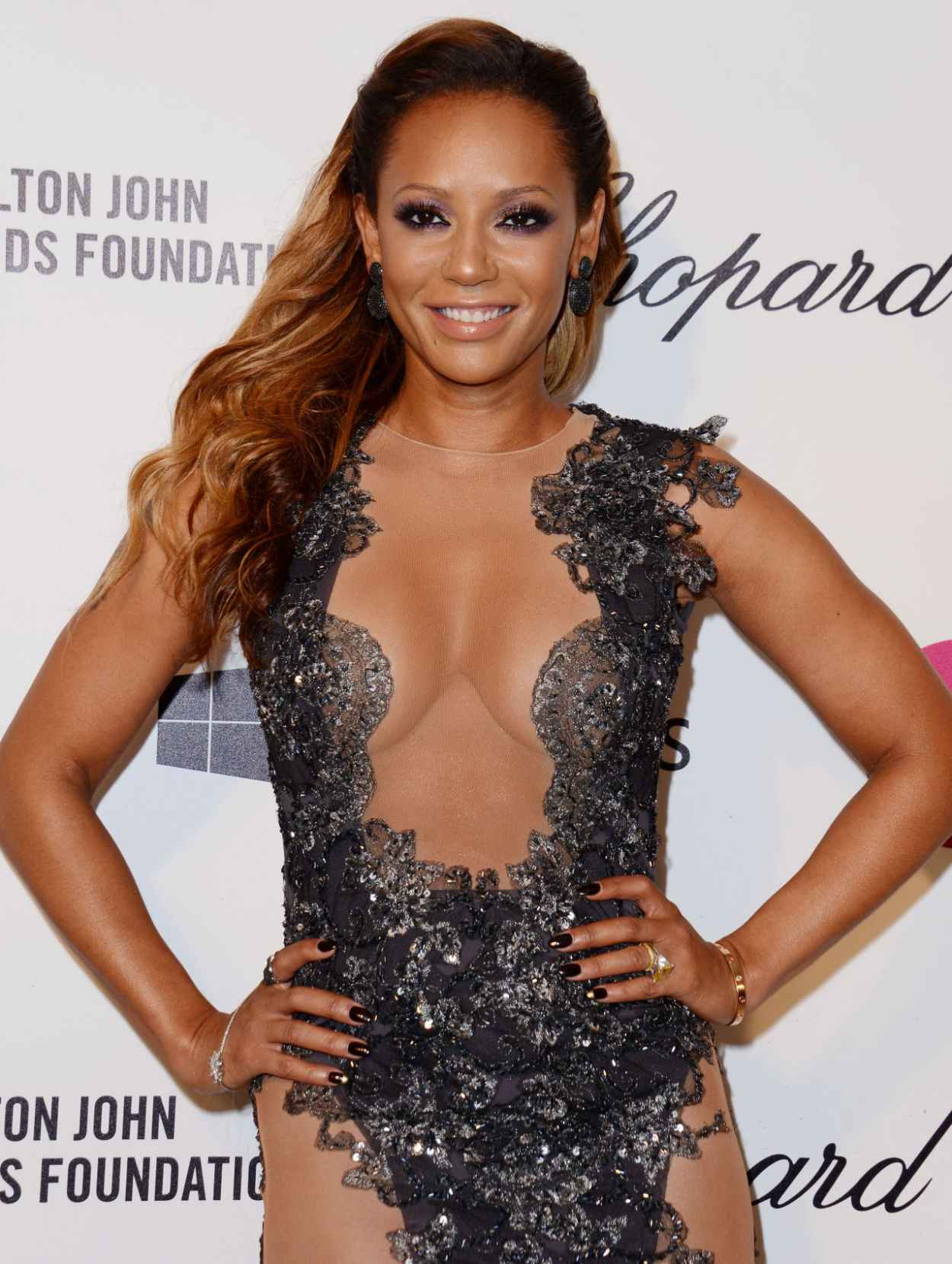 Melanie Brown - 2015 Elton John Oscar Party-1