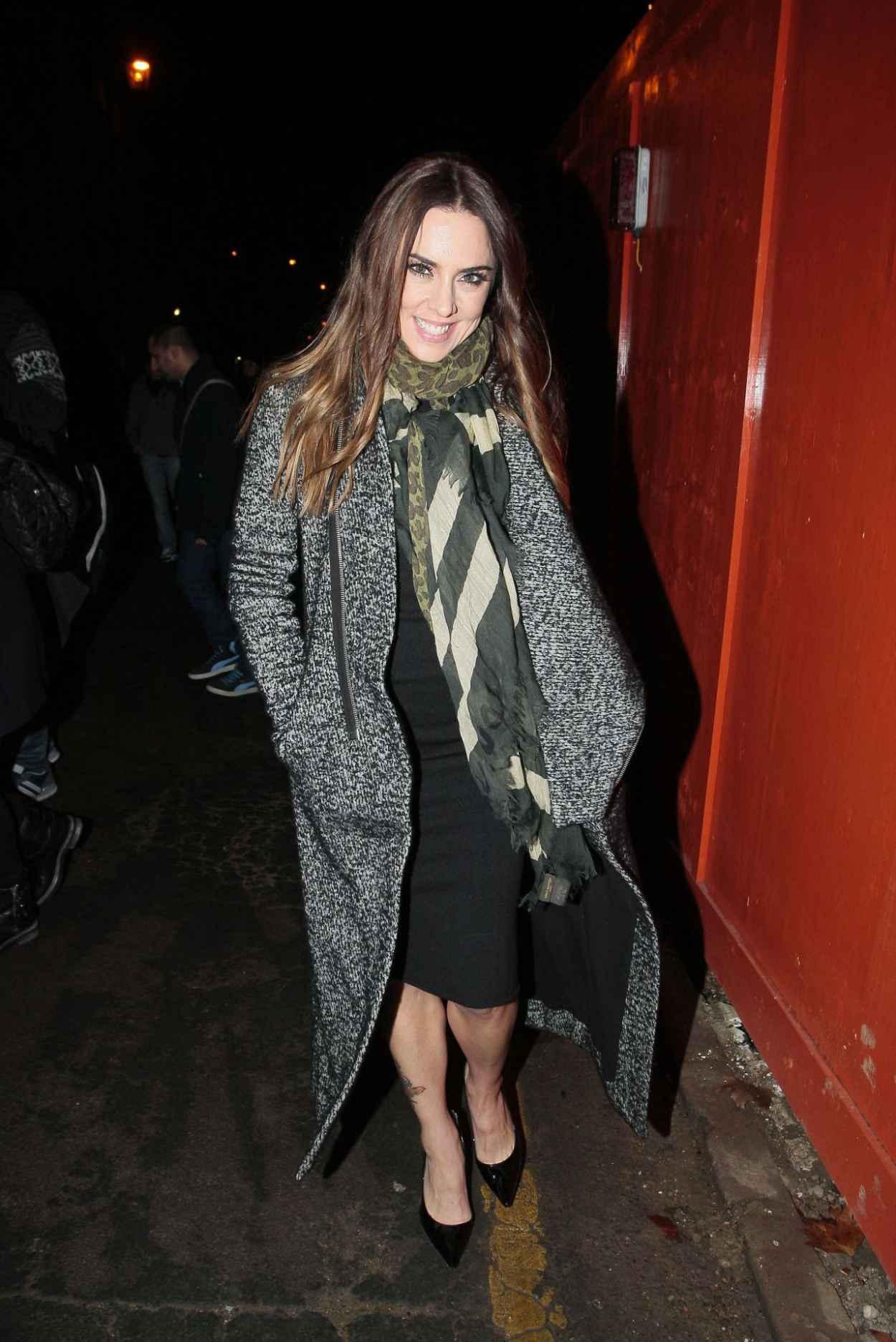 Melanie Chisholm Street Style - Leaving the Union Chapel in London - December 2015-5