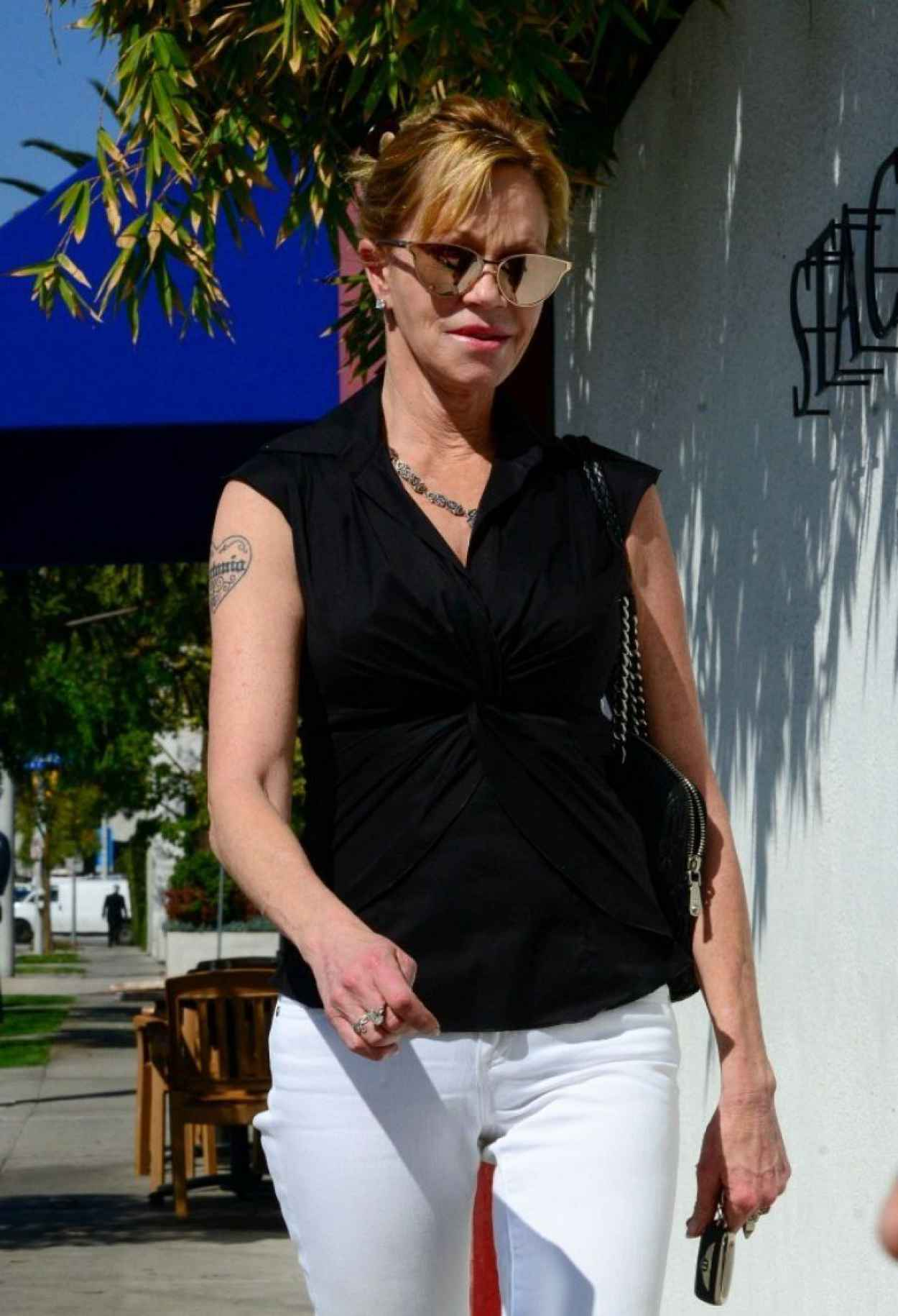 Melanie Griffith Street Style - Out in Beverly Hills - February 2015-1