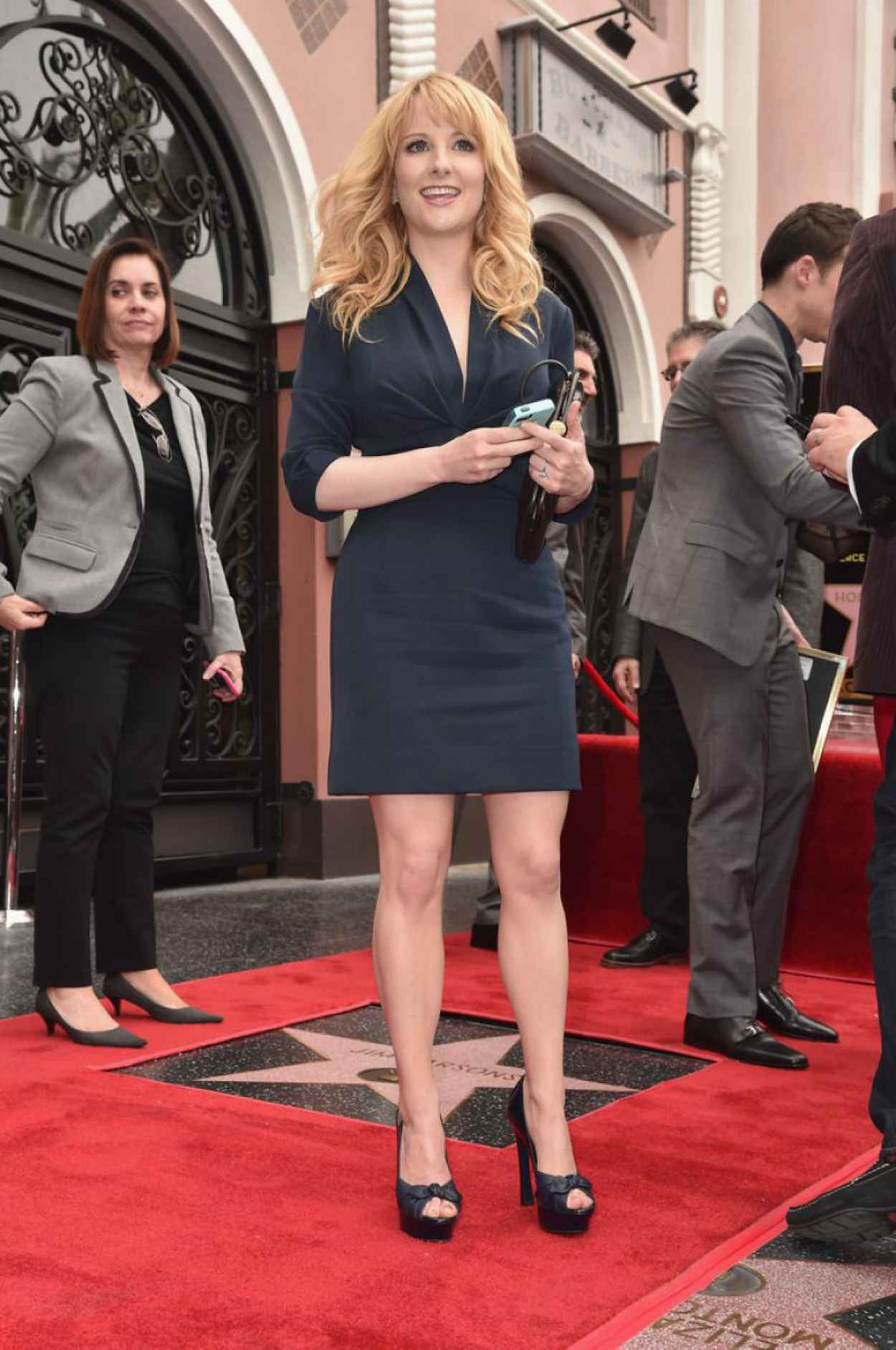 Melissa Rauch - Jim Parsons Hollywood Walk of Fame Ceremony, March 2015-1