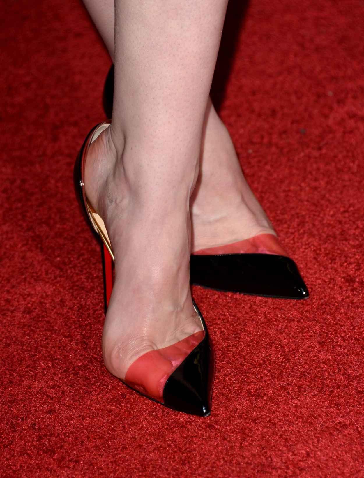 Michelle Dockery Wearing Christian Dior Lurex Dress - -Non-Stop- LA Premiere-4