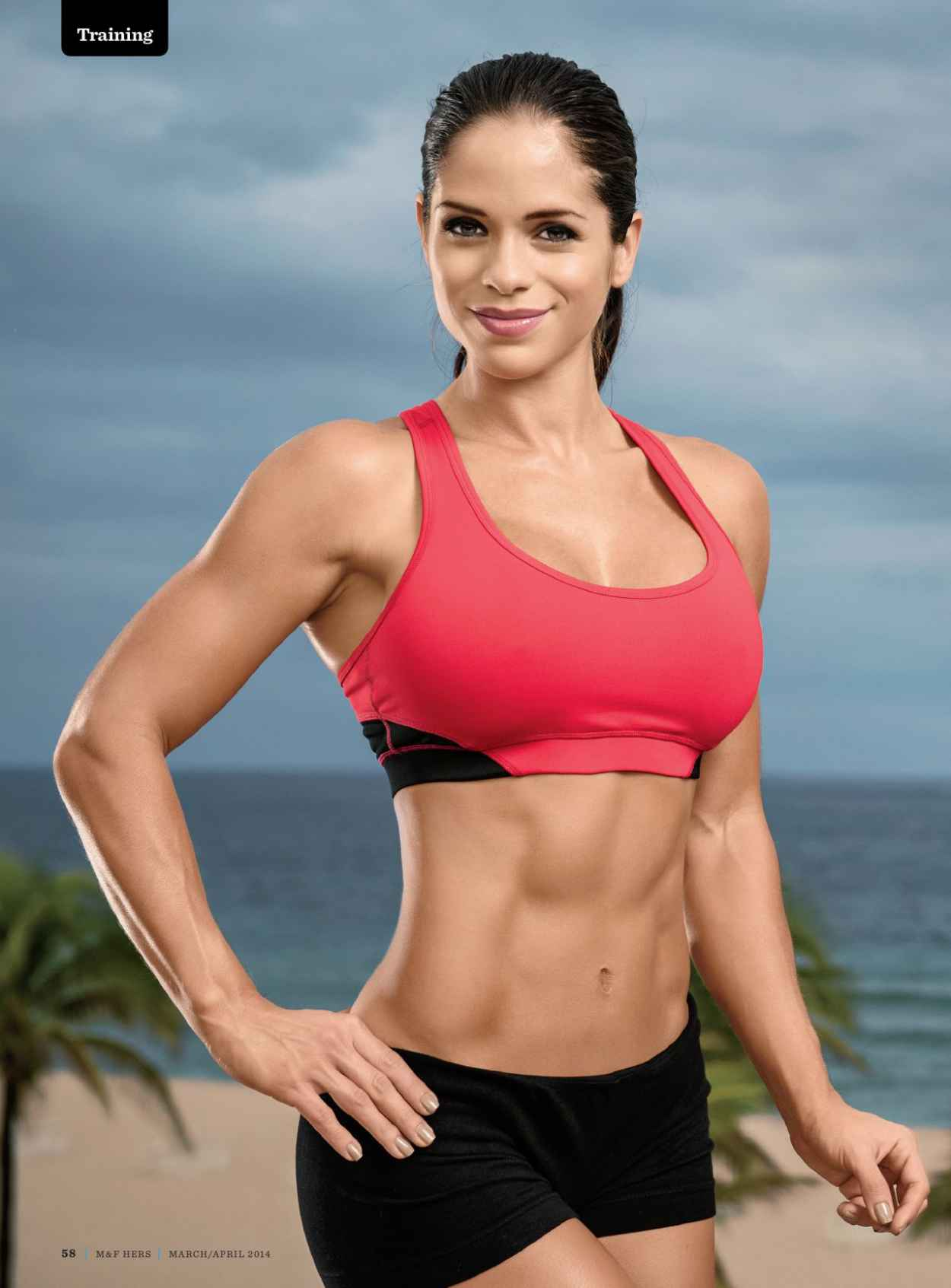 Michelle Lewin - Muscle Fitness Hers Magazine - March/April 2015 Issue-1