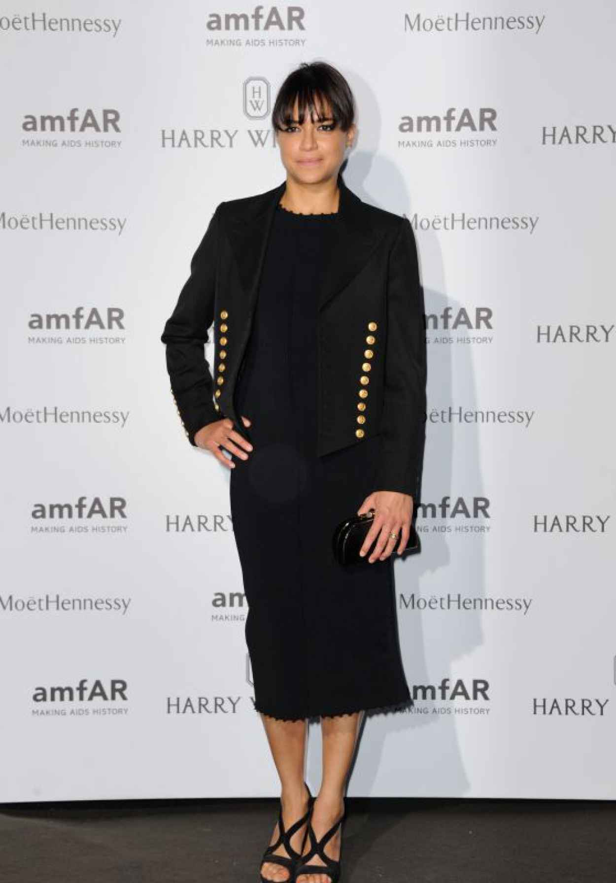 Michelle Rodriguez on Red Carpet - amfAR Dinner in Paris, July 2015-1