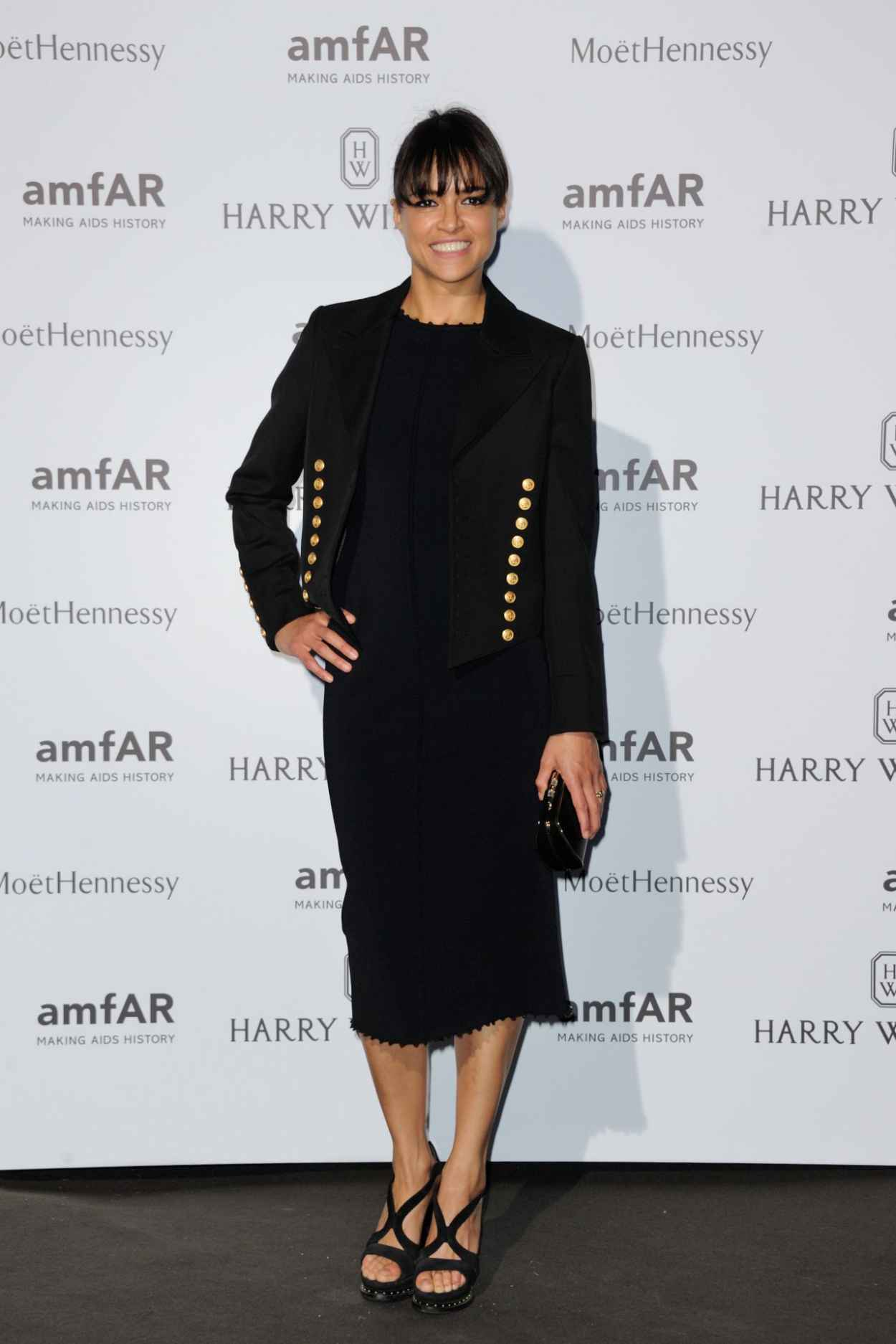 Michelle Rodriguez on Red Carpet - amfAR Dinner in Paris, July 2015-3