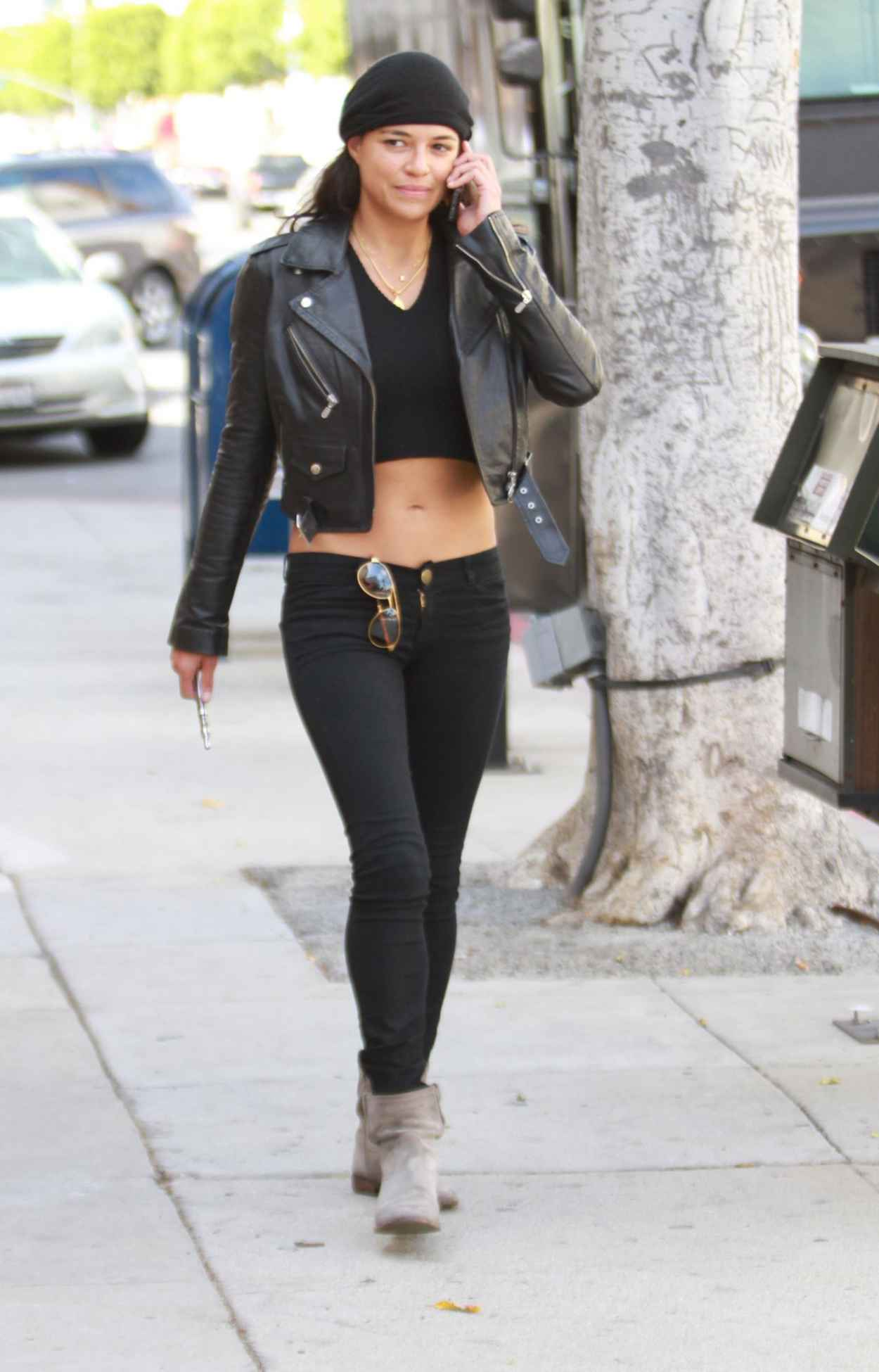 michelle rodriguez street style � shopping in la april