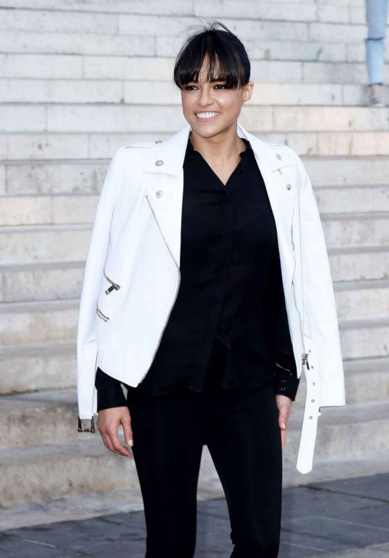 Michelle Rodriguez - Versace Fashion Show in Paris, July 2015-1