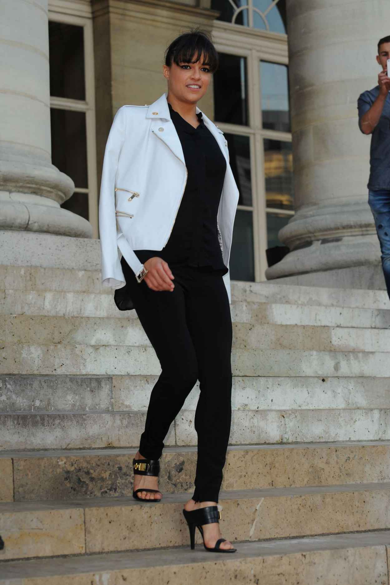 Michelle Rodriguez - Versace Fashion Show in Paris, July 2015-3