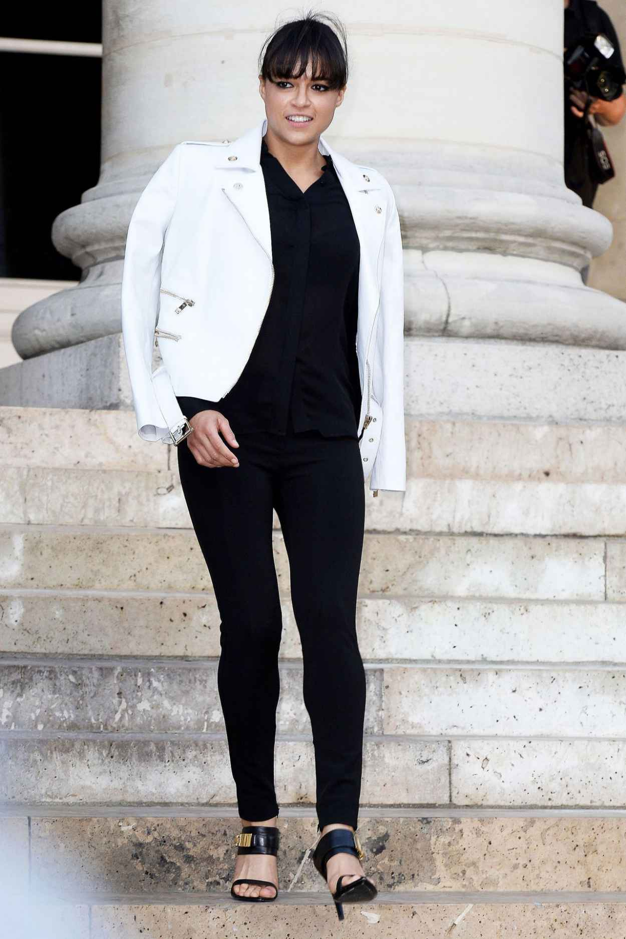Michelle Rodriguez - Versace Fashion Show in Paris, July 2015-5