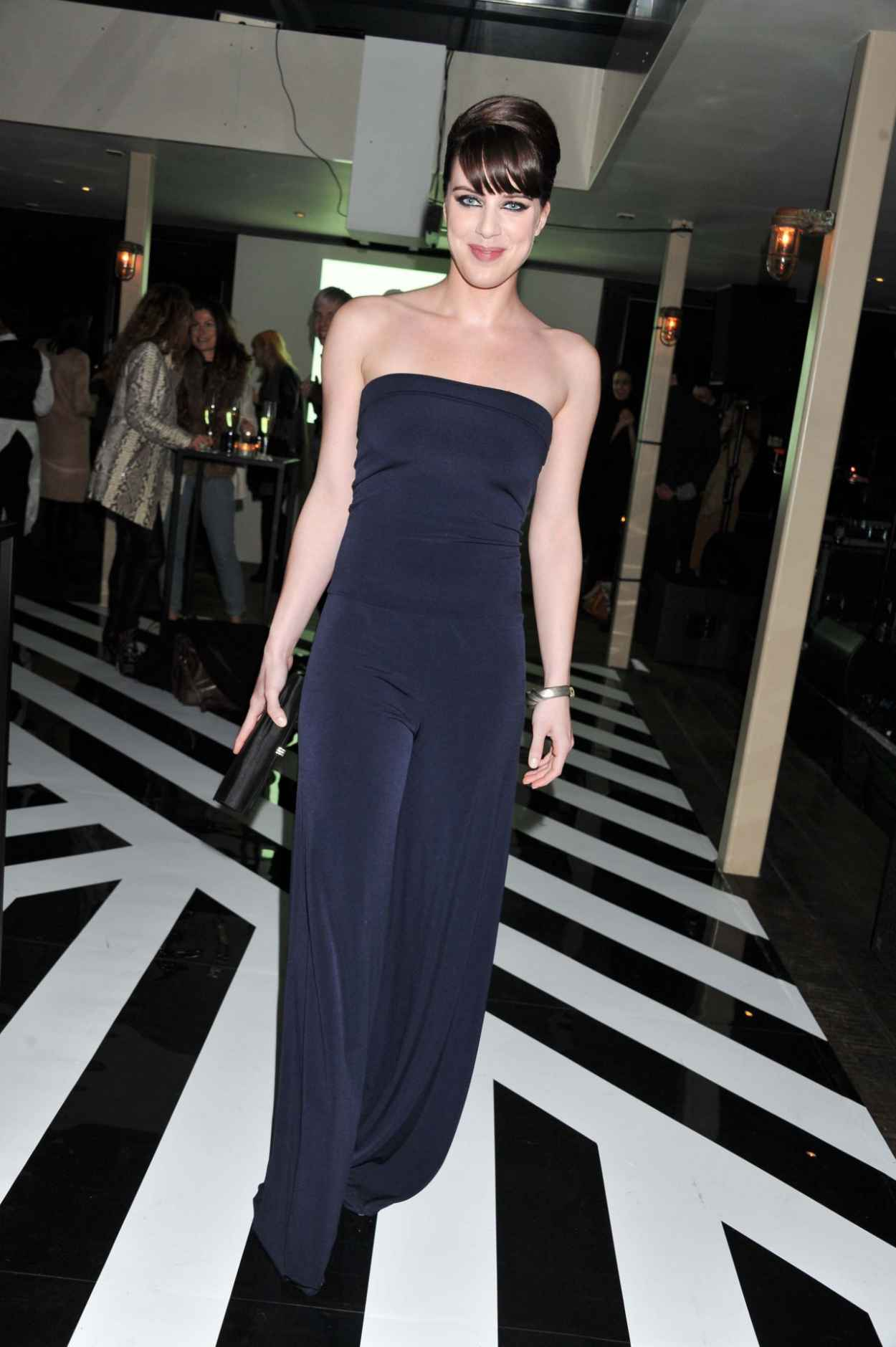 Michelle Ryan Wears Busty Blue Dress at Instyle Best Of British Talent Party Awards 2015-1