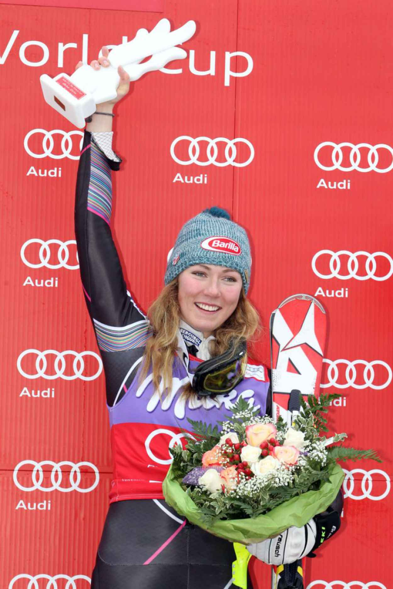 Mikaela Shiffrin - Audi FIS World Cup Womens Slalom in Bormio, January 2015-1