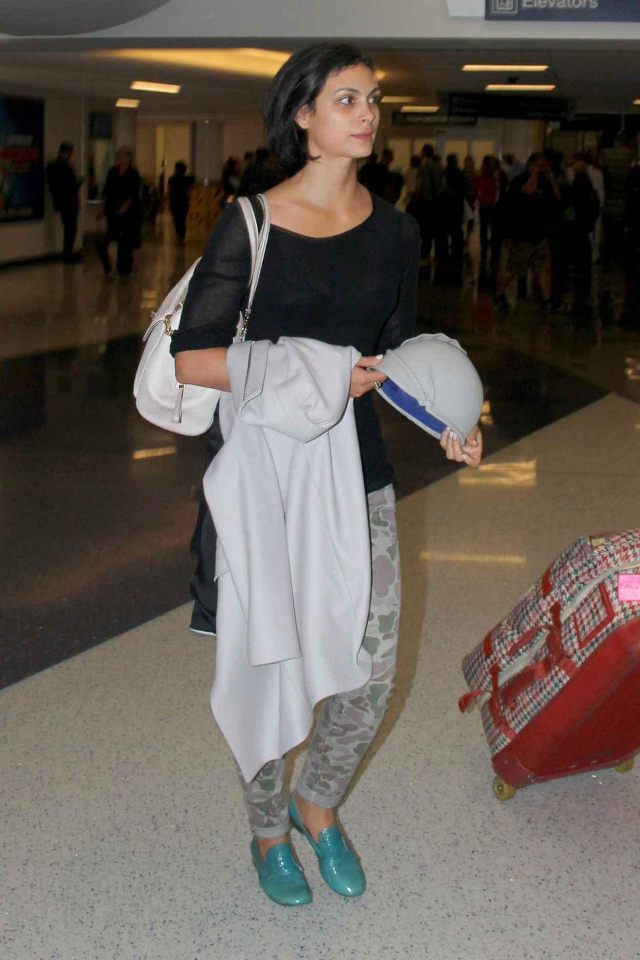 Morena Baccarin at LAX Airport - October 2015-1