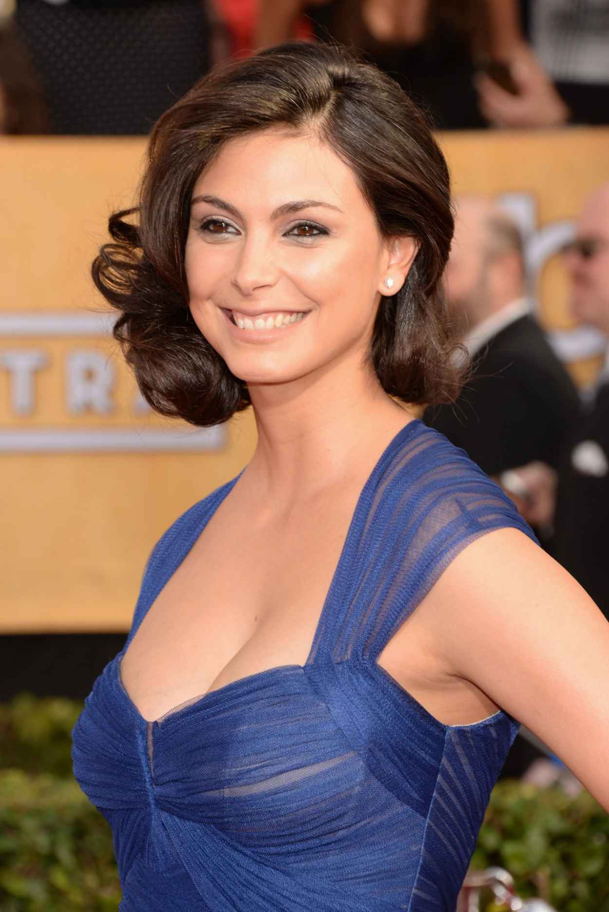 Morena Baccarin Wears Monique Lhuillier Dress at 2015 SAG Awards in Los Angeles-1