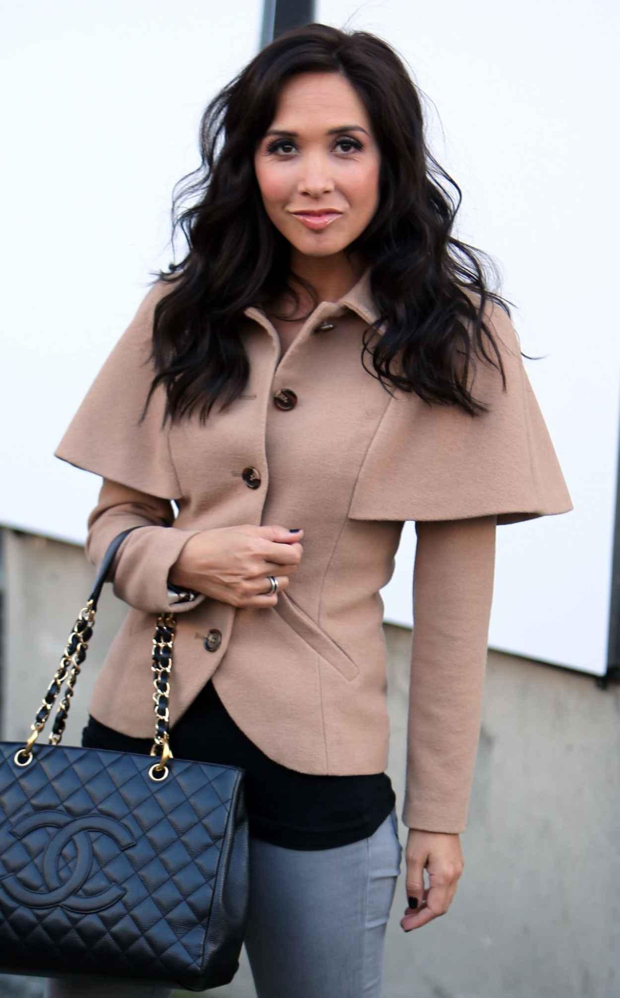 Myleene Klass Street Style - in Jeans and FMBs - London, January 2015-1