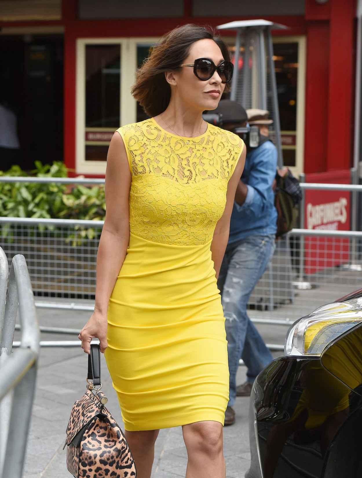 Myleene Klass Style - Arrives at Global Radio in London, July 2015-2