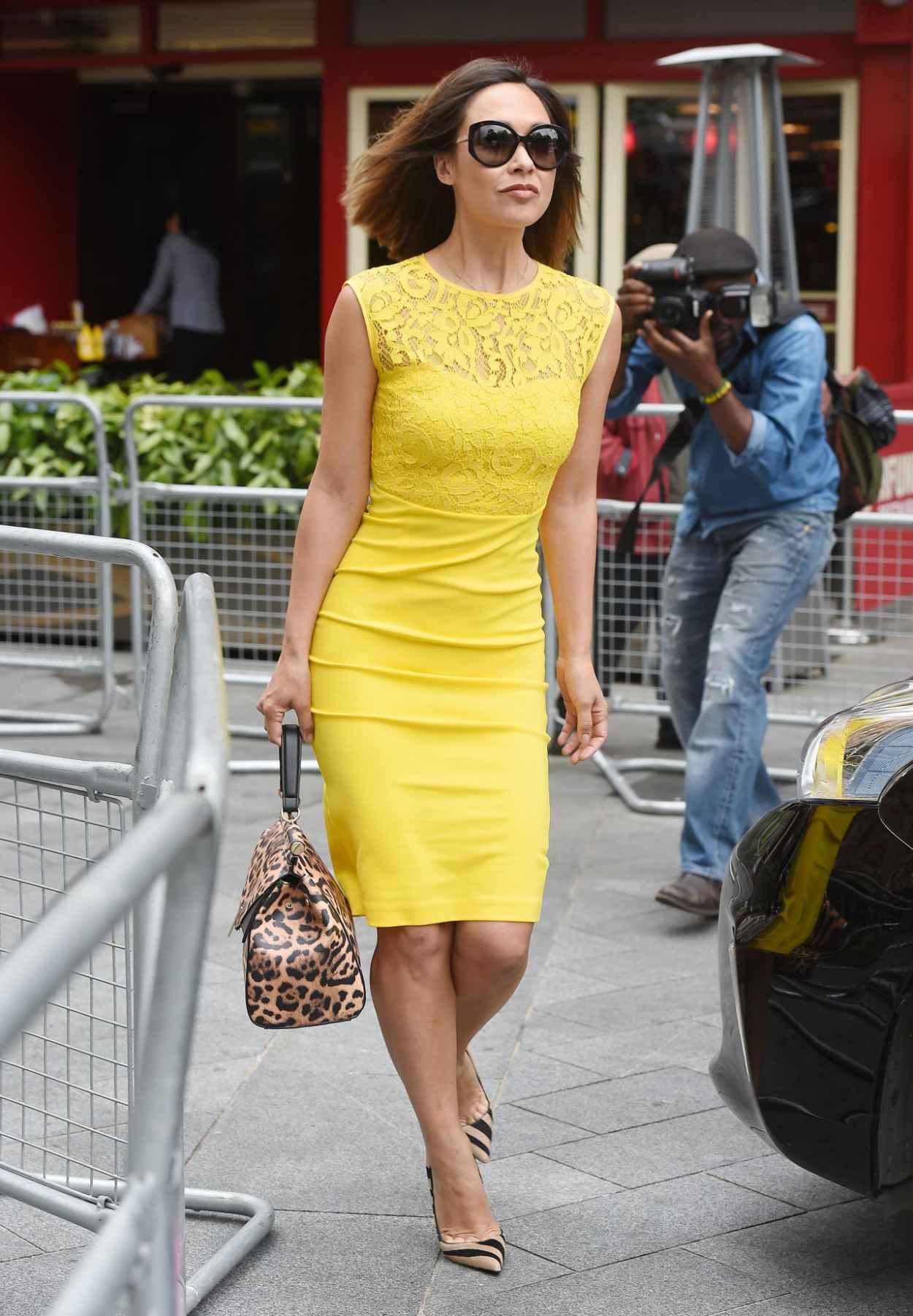Myleene Klass Style - Arrives at Global Radio in London, July 2015-4