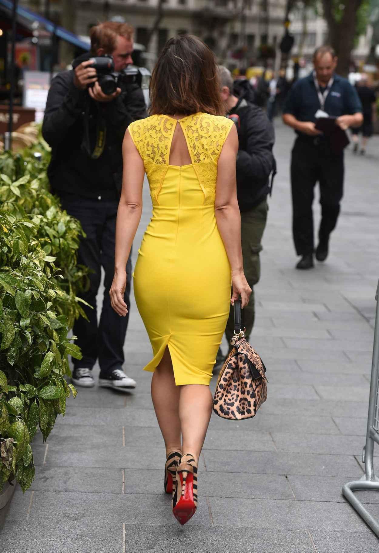 Myleene Klass Style - Arrives at Global Radio in London, July 2015-5