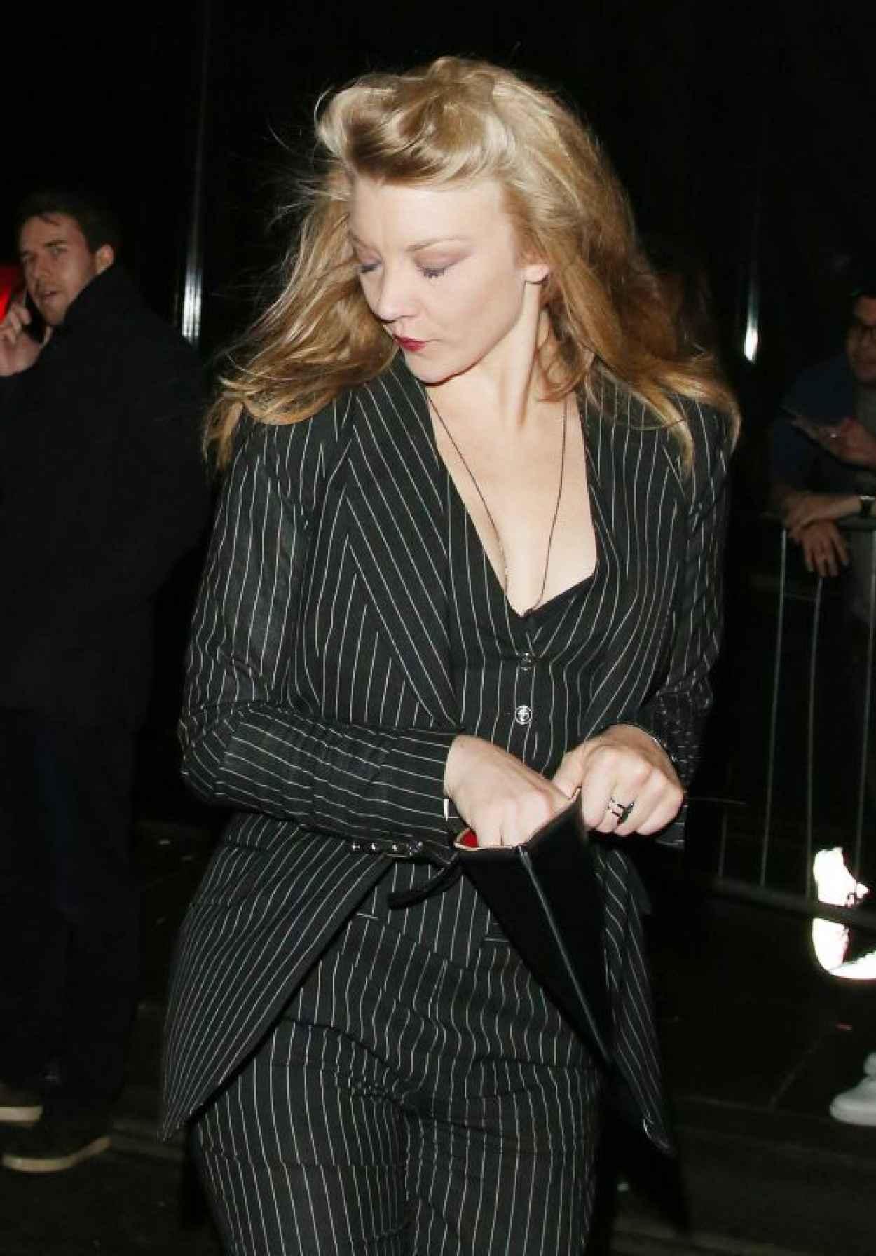 Natalie Dormer - Leaving a Hotel in London, October 2015-1