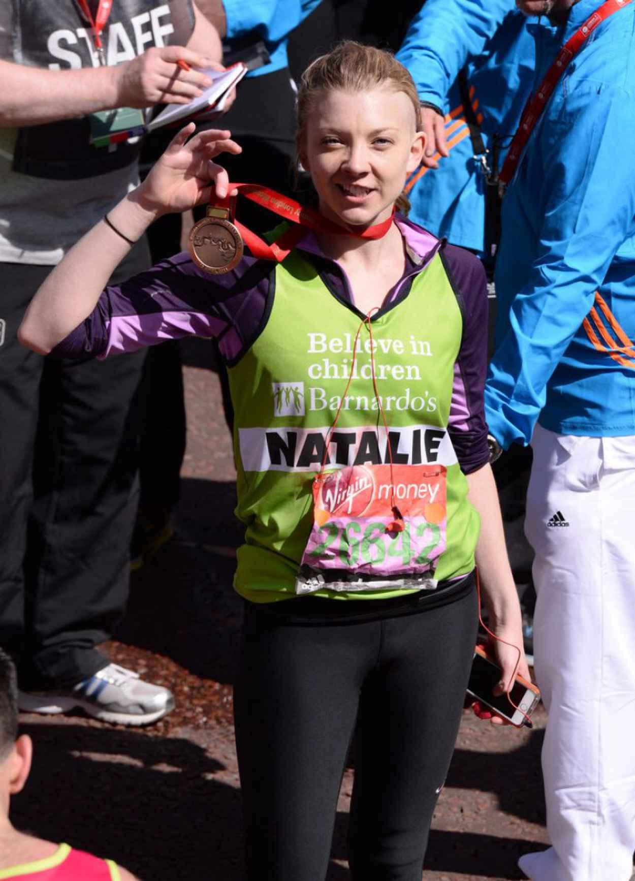 Natalie Dormer - Virgin Money London Marathon - April 2015-1