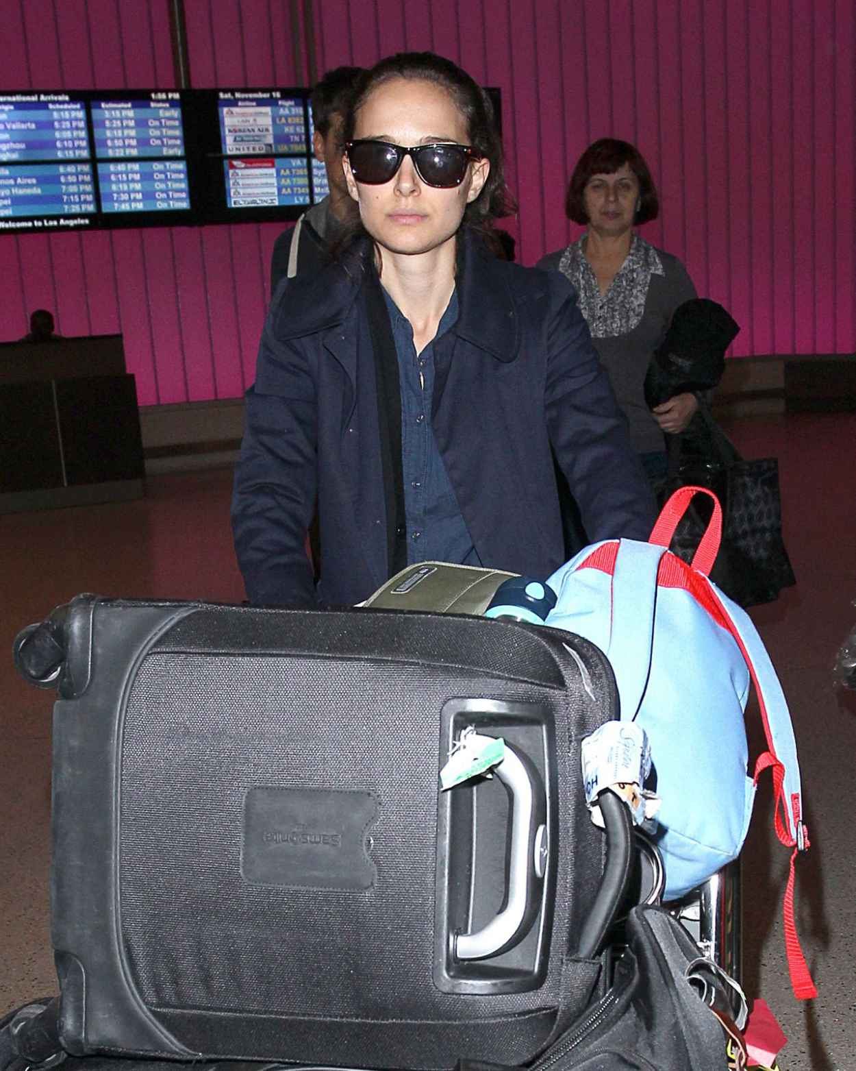 Natalie Portman at LAX Airport - November 2015-2