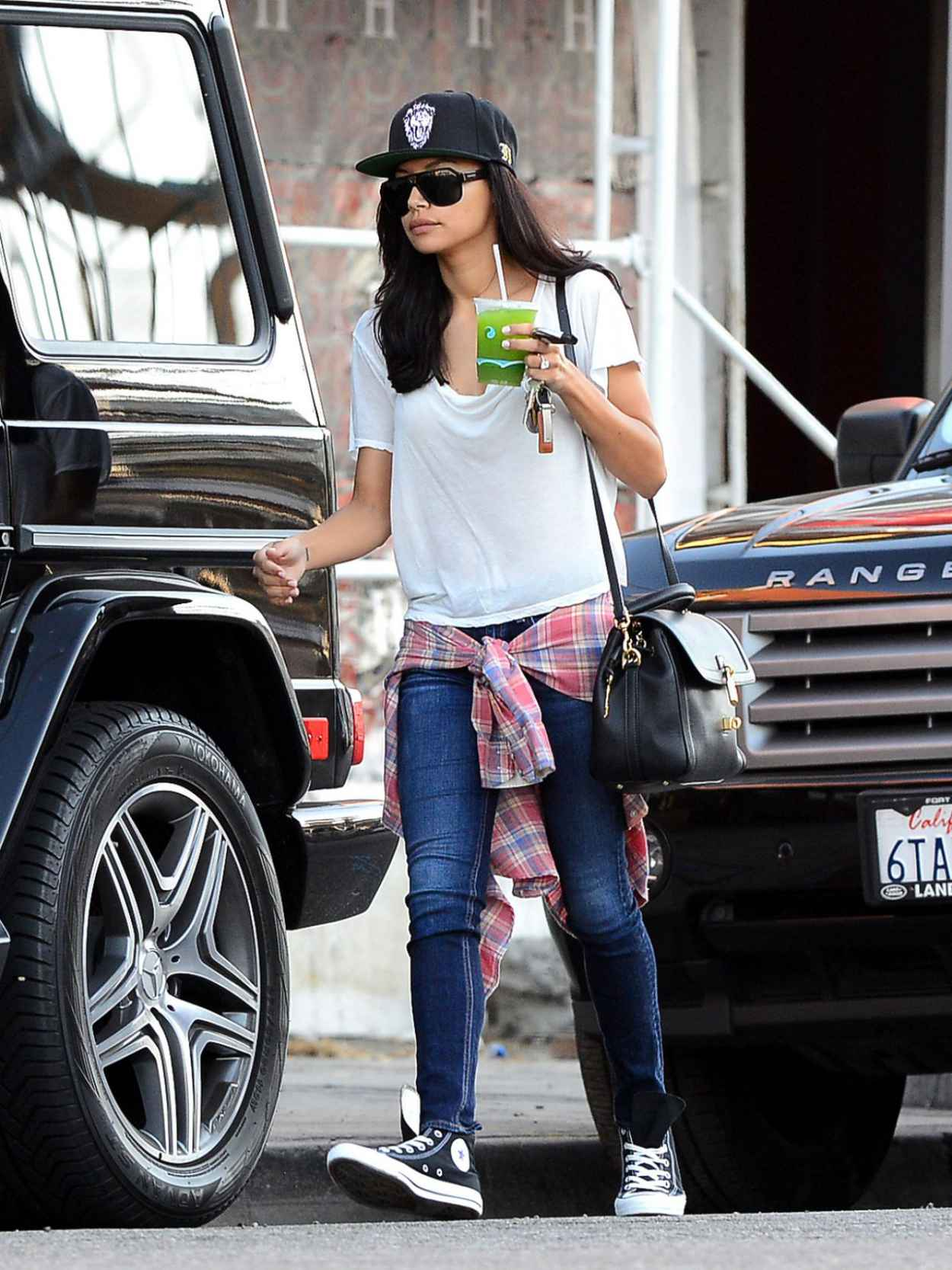 Naya Rivera Street Style - Out in Los Angeles-1
