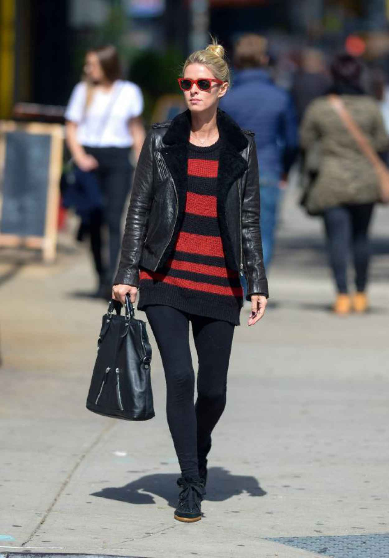 Nicky Hilton in a Leather Jacket - Manhattan, October 2015-1